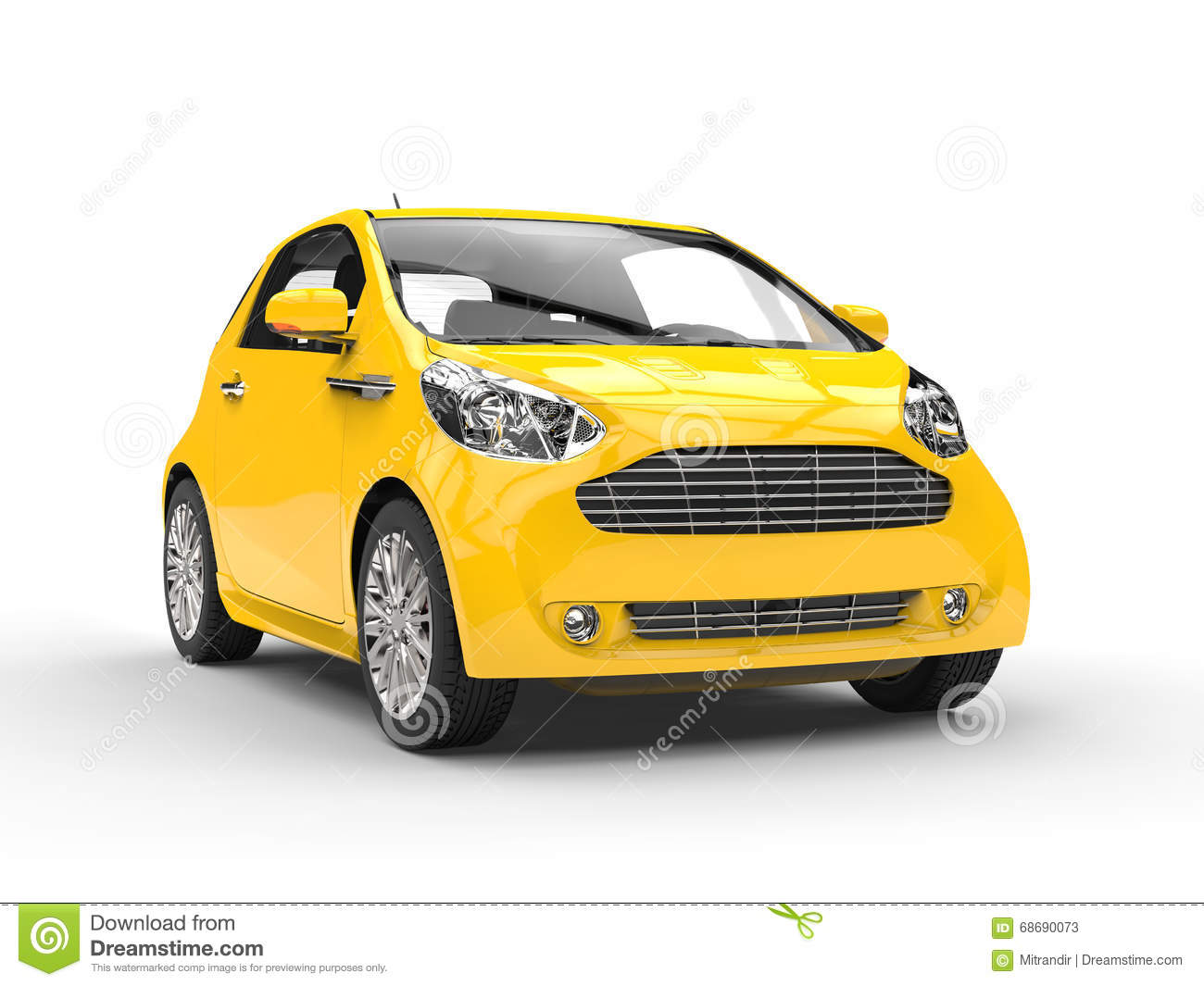 Royalty-Free Stock Photo. Download Small Yellow Compact ...