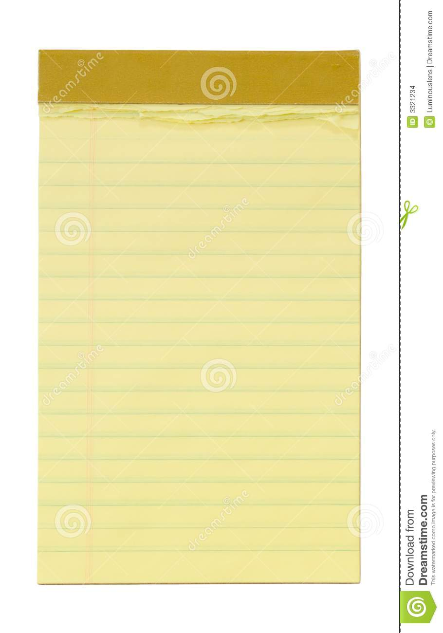 Small Yellow Lined Notepad Stock Images Image 3321234