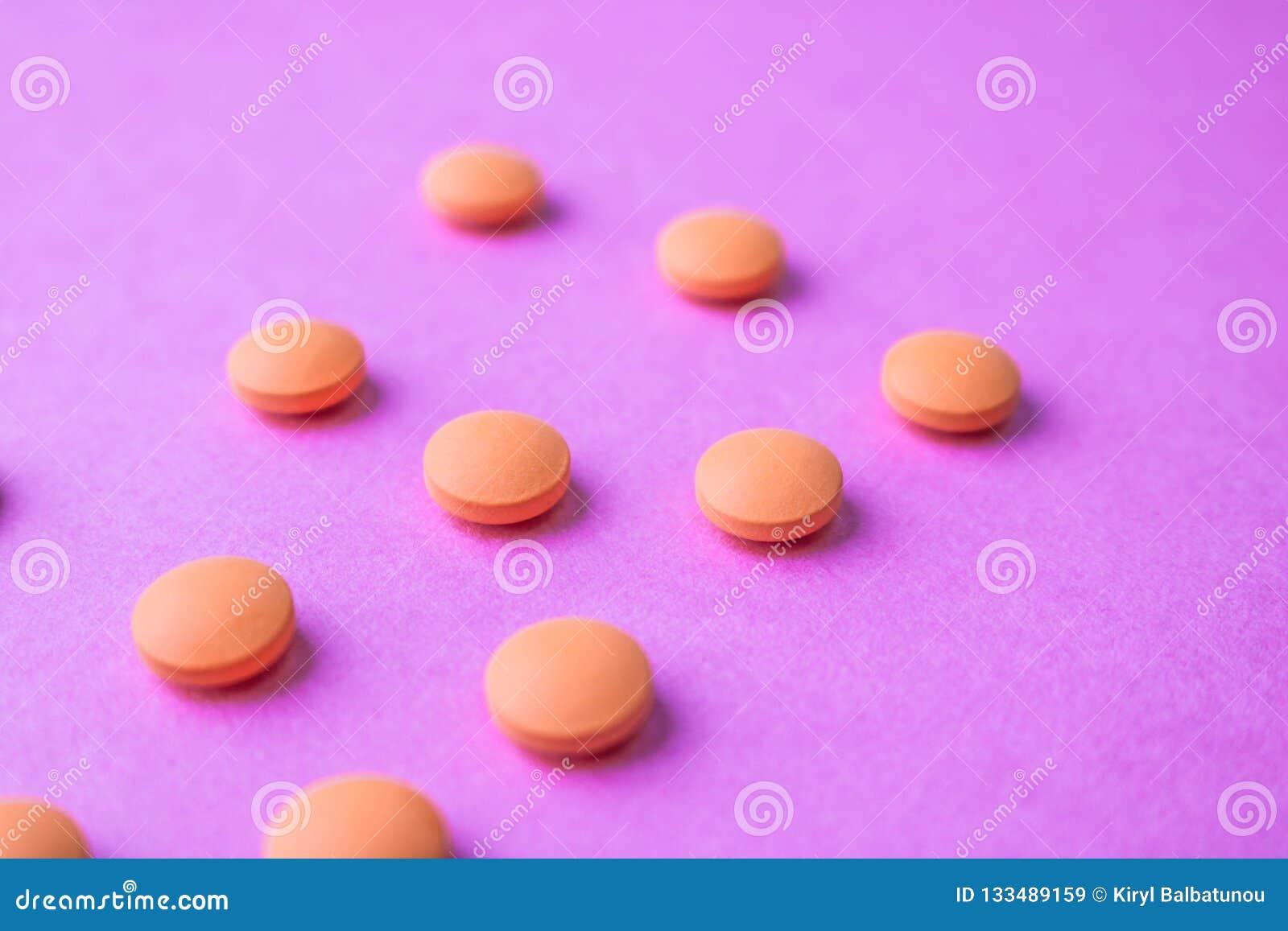 Small Yellow Orange Beautiful Medical Pharmaceptic Round