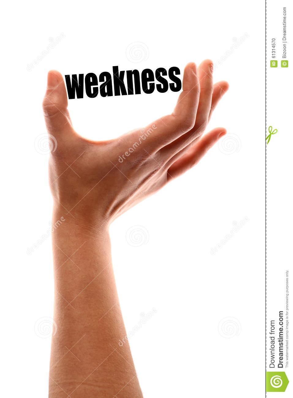 Stock Illustration Smaller Weakness Color Vertical Shot Hand Squeezing Word Image61314570 on Body Parts Picture Word Cards