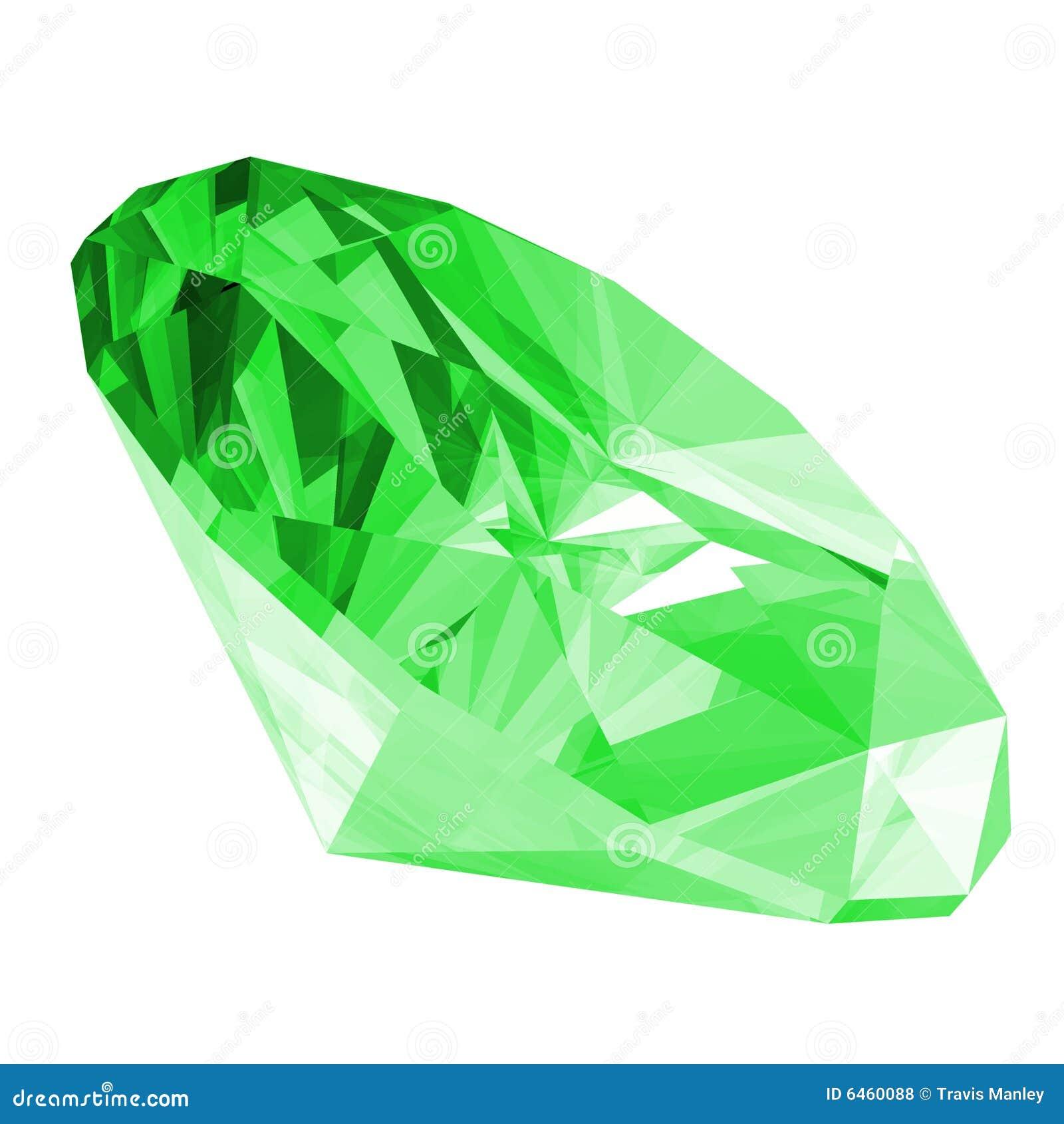 Smaragdedelstein 3d getrennt