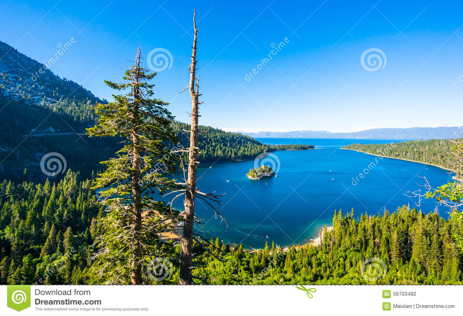 Smaragdgroene Baai, Meer Tahoe