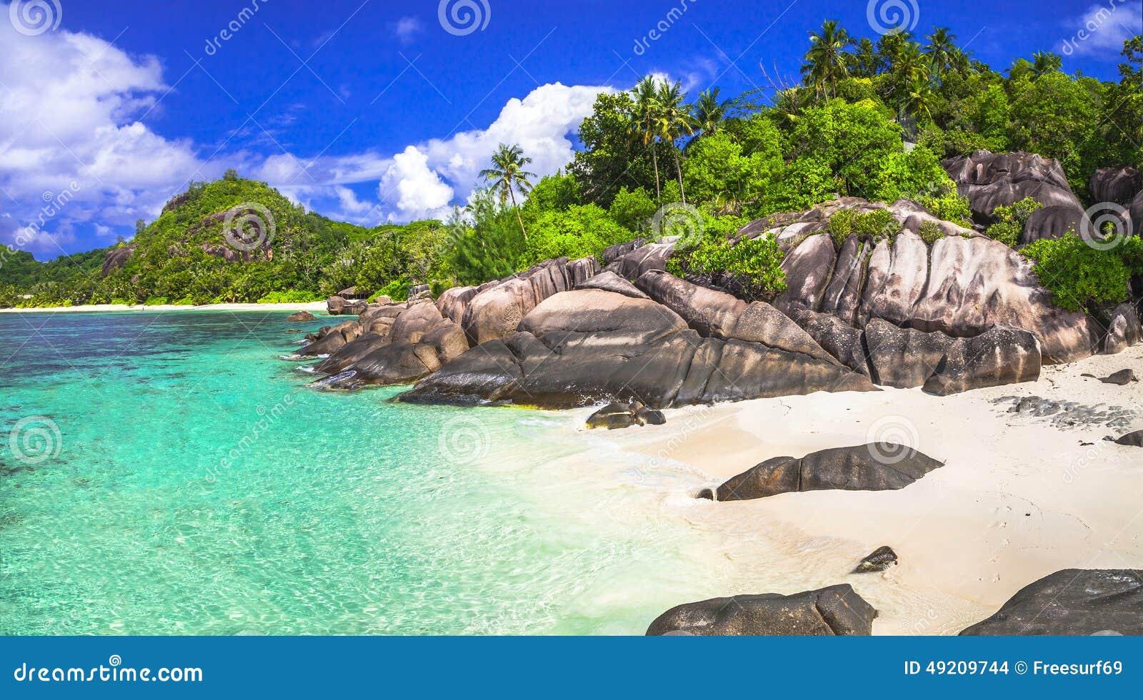 Smaragdgroene stranden van Seychellen