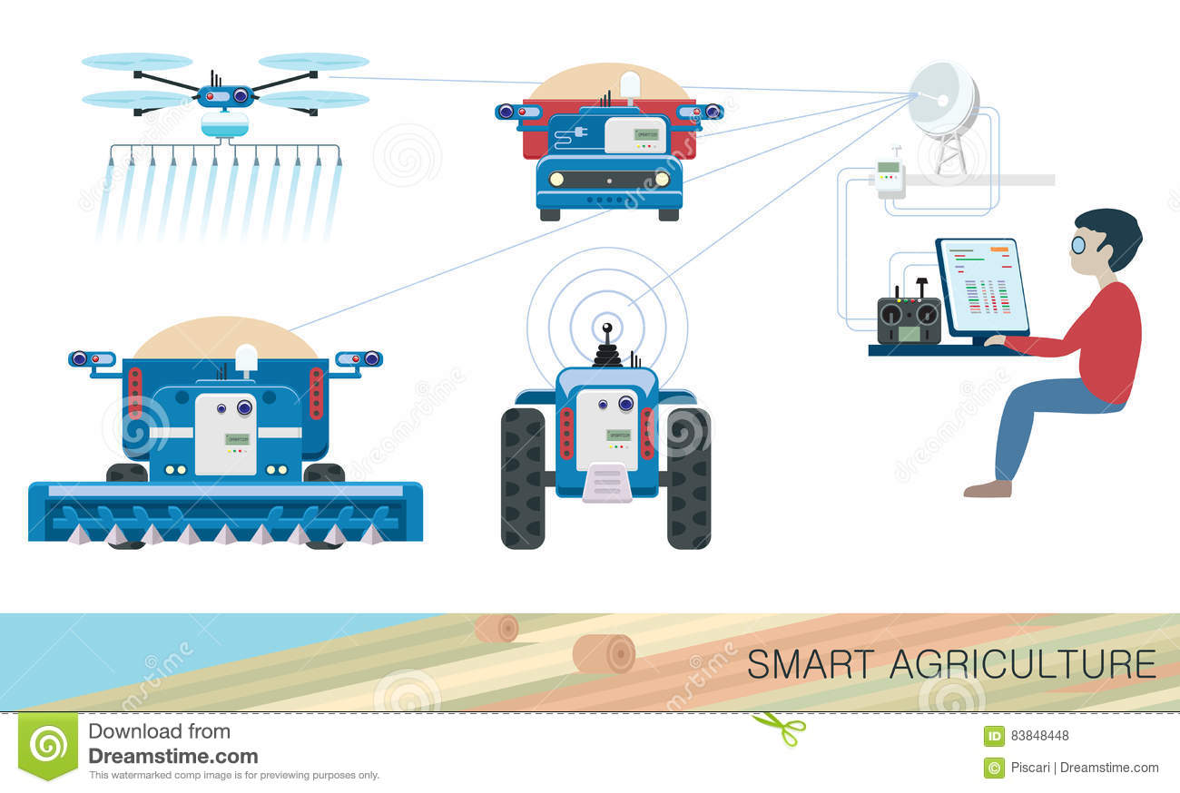 Smart agriculture stock vector  Illustration of agribusiness - 83848448