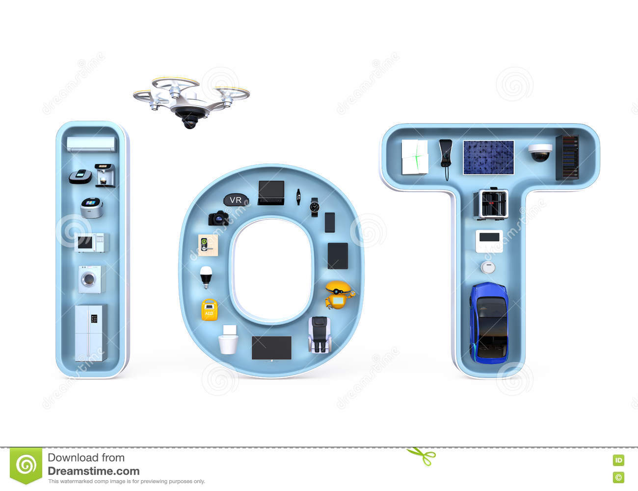 Smart Appliances In Word Iot Internet Of Things Concept