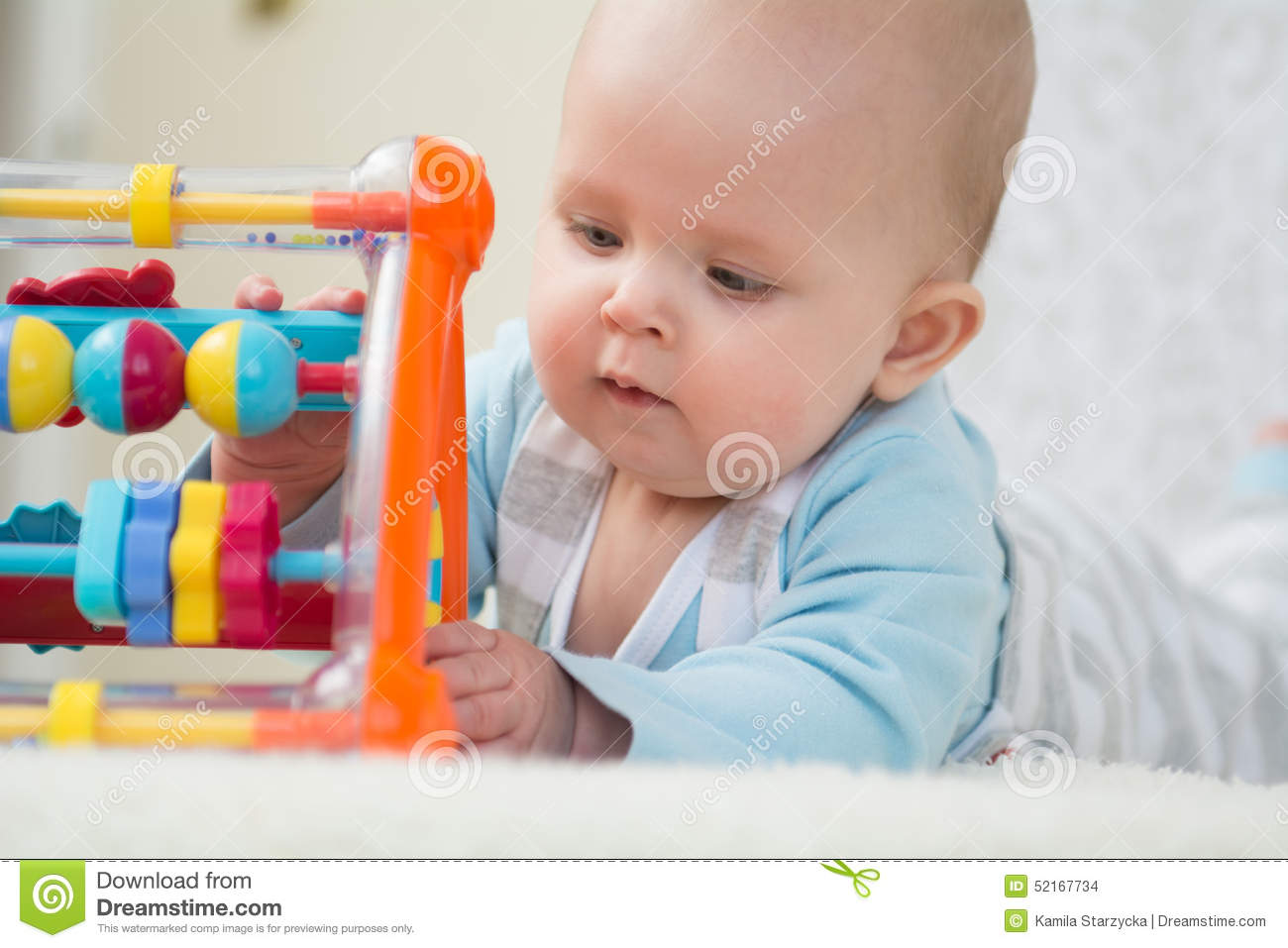 Smart baby girl stock photo. Image of brain, gums, busy ...