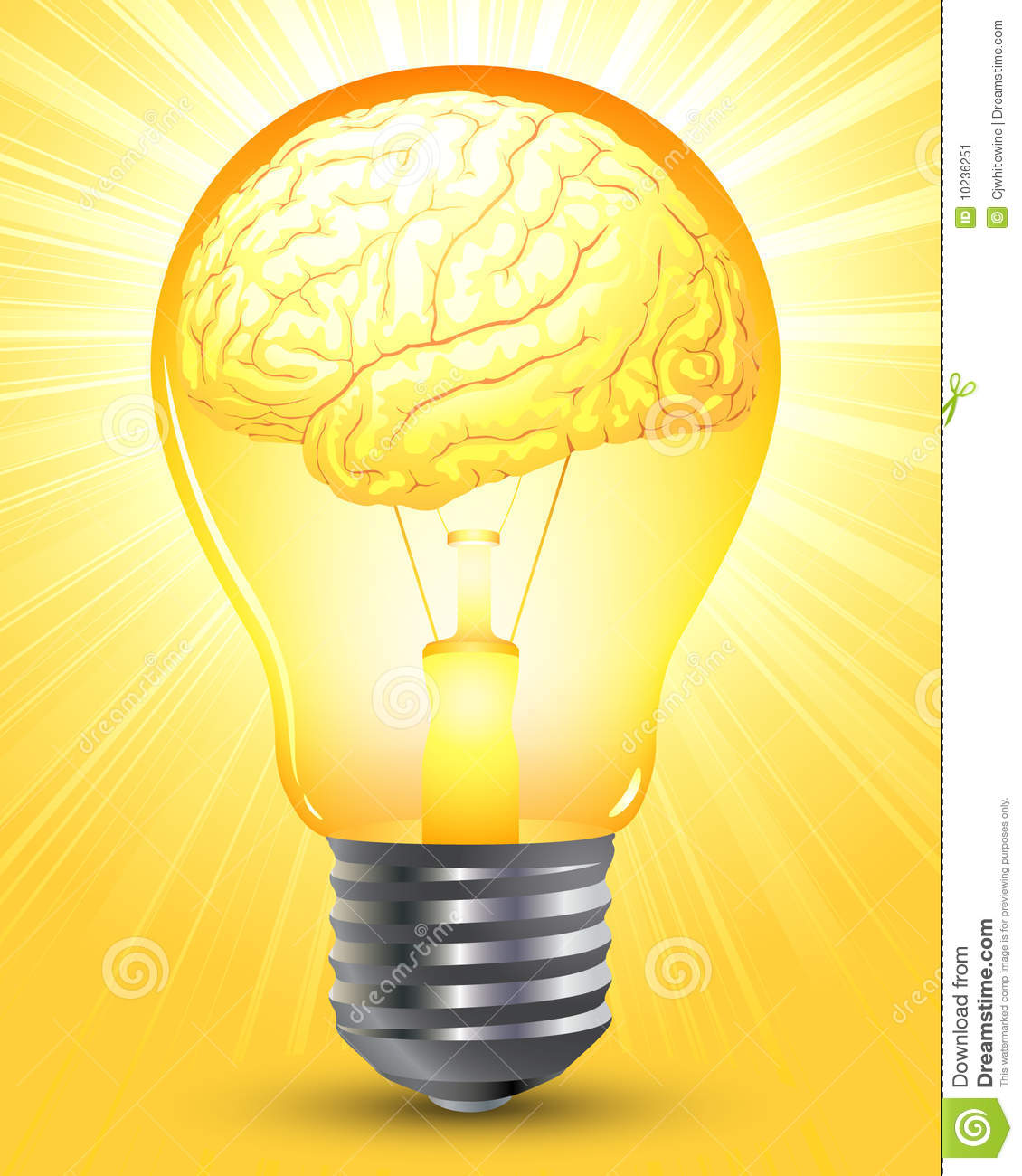 Smart Brain Stock Image - Image: 10236251