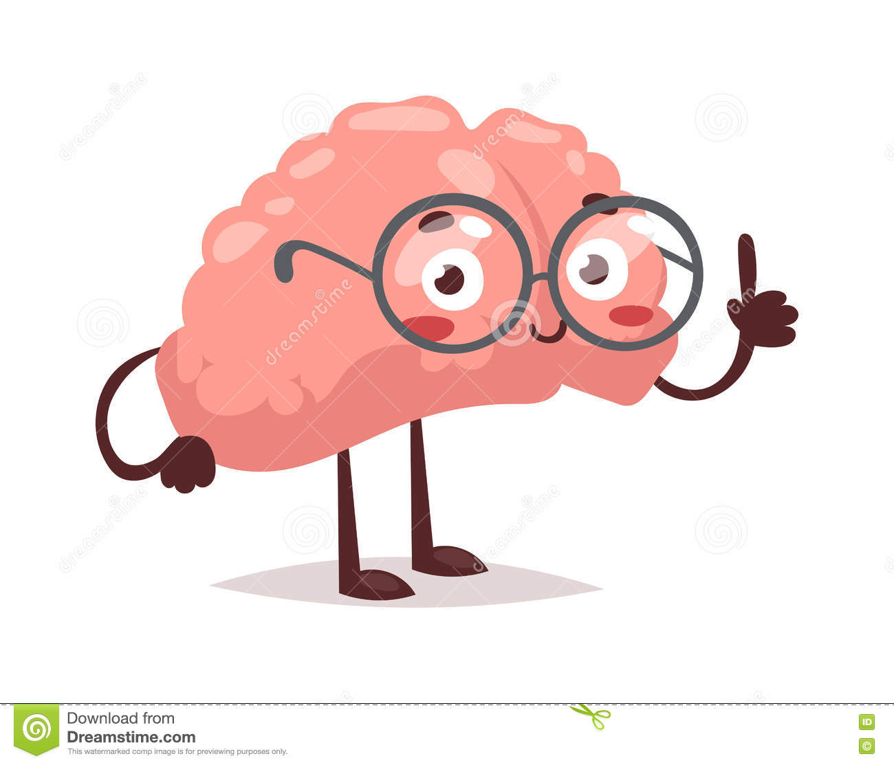 Https Www Dreamstime Com Stock Illustration Smart Brain Character Vector Illustration Cartoon Mind Cute Human Organ Creativity Concept Graphic Genius Medical Imagination Image73793324