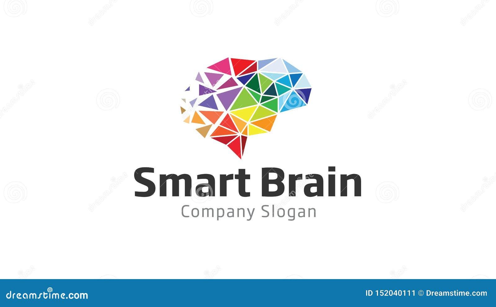 Smart Brain Polygon Logo