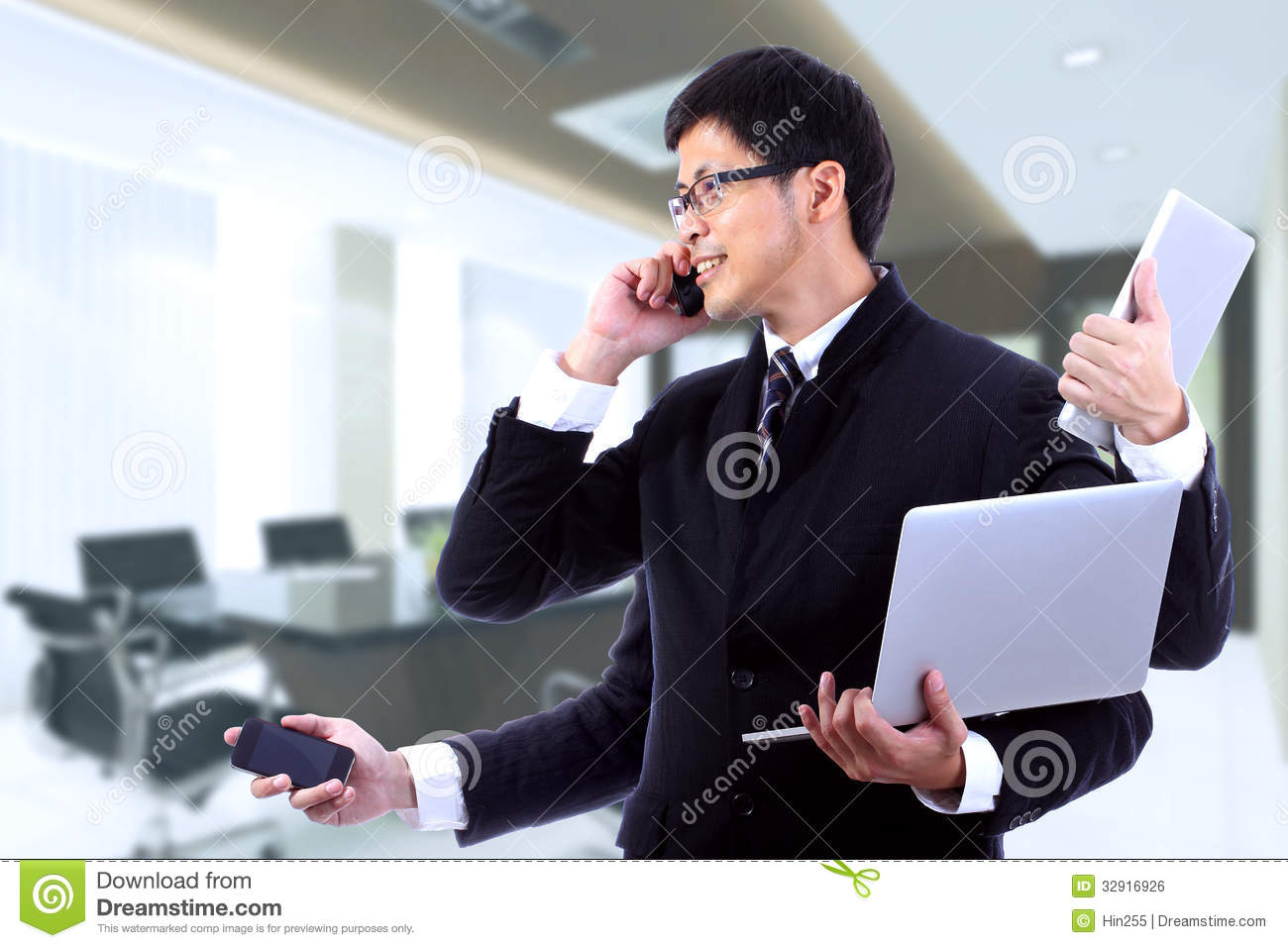 Busy Office Worker Clipart Smart businessman on busy with