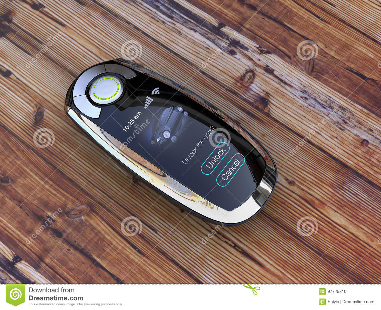 Smart Car Key Replacement >> Smart Car Key On Wood Table Stock Illustration