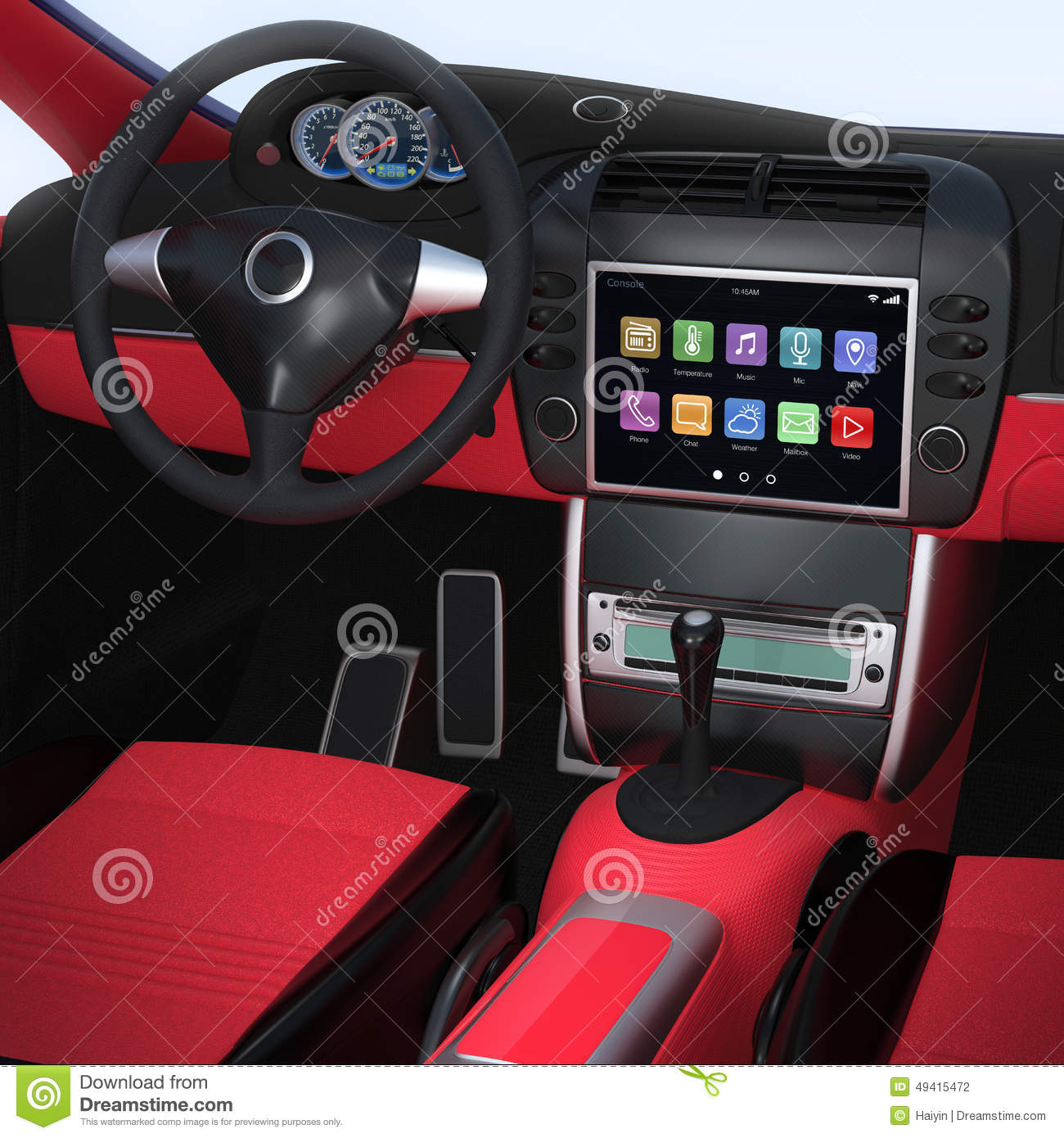 smart car navigation interface in original design stock photo image 49415472. Black Bedroom Furniture Sets. Home Design Ideas