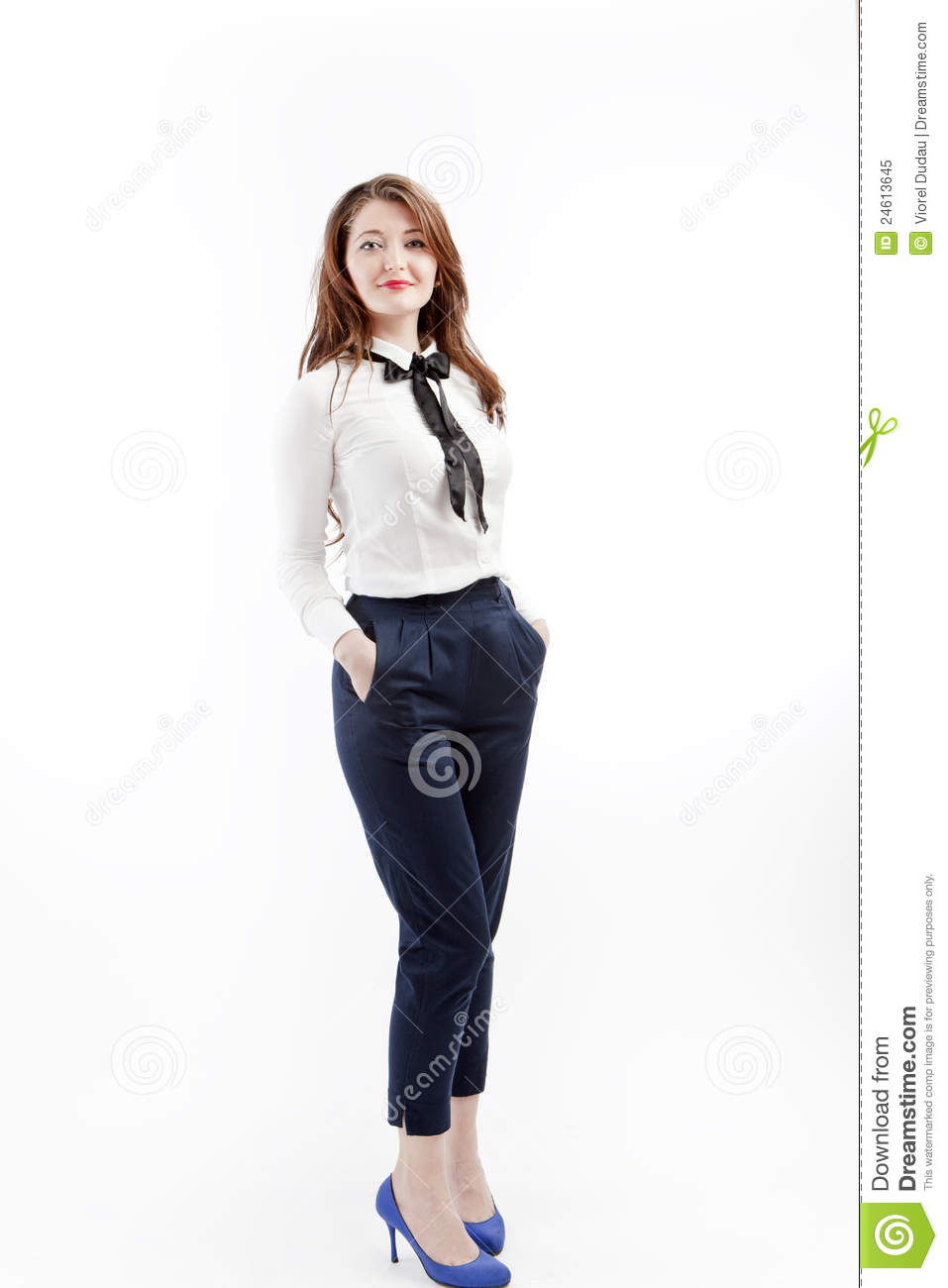 Smart Casual Woman Stock Image Image Of Girl Person