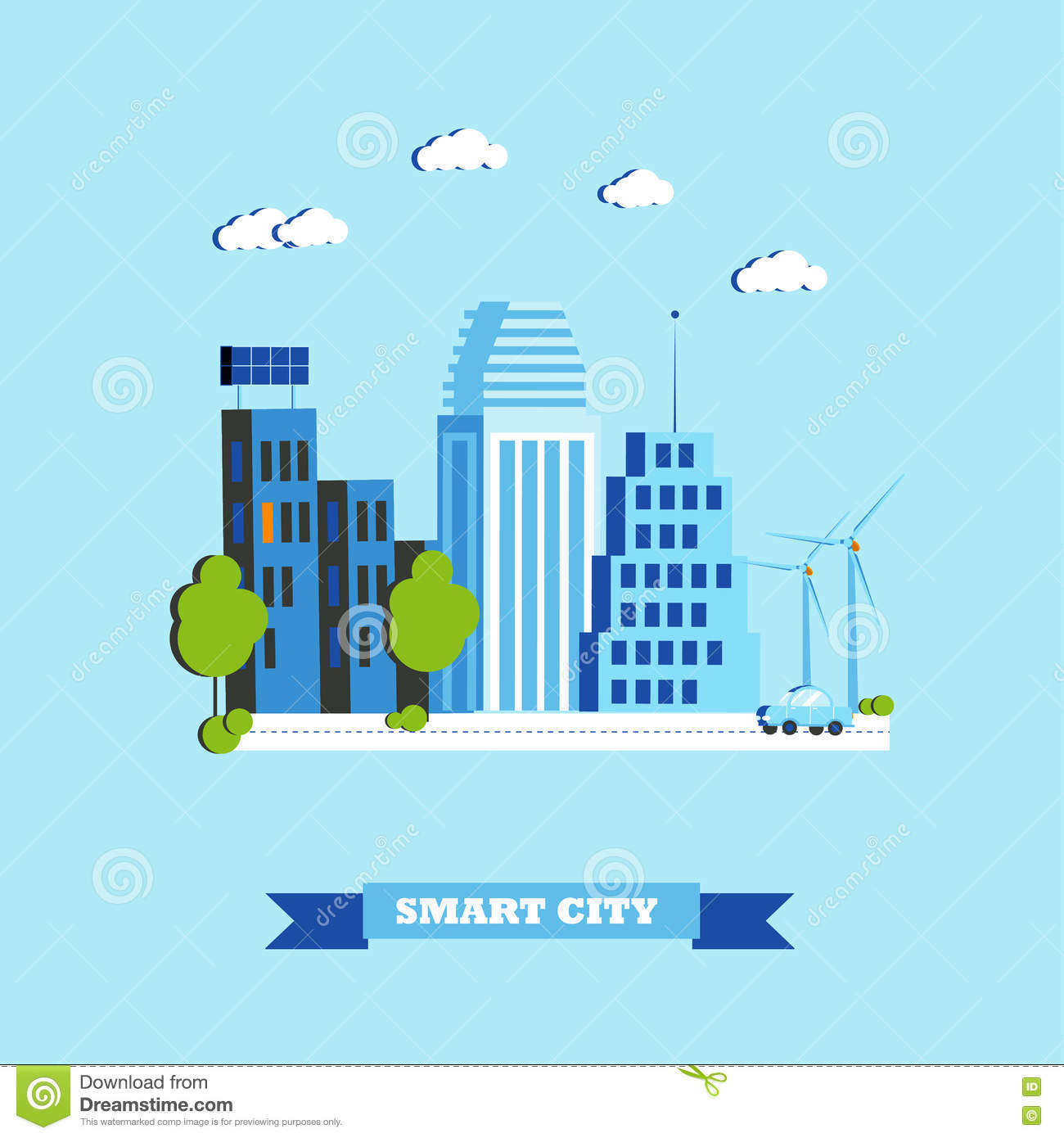 how to draw a smart city