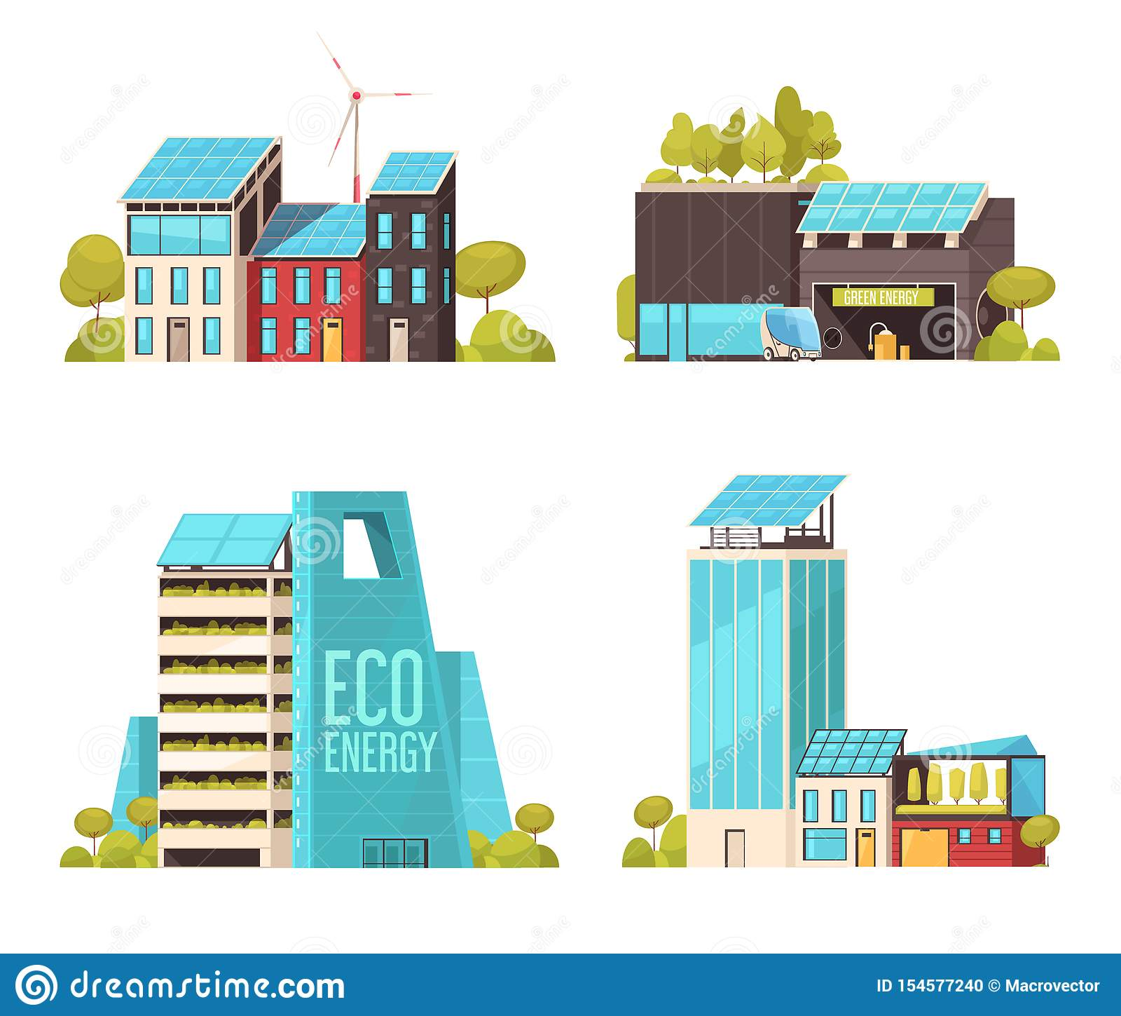 Smart City Flat Concept