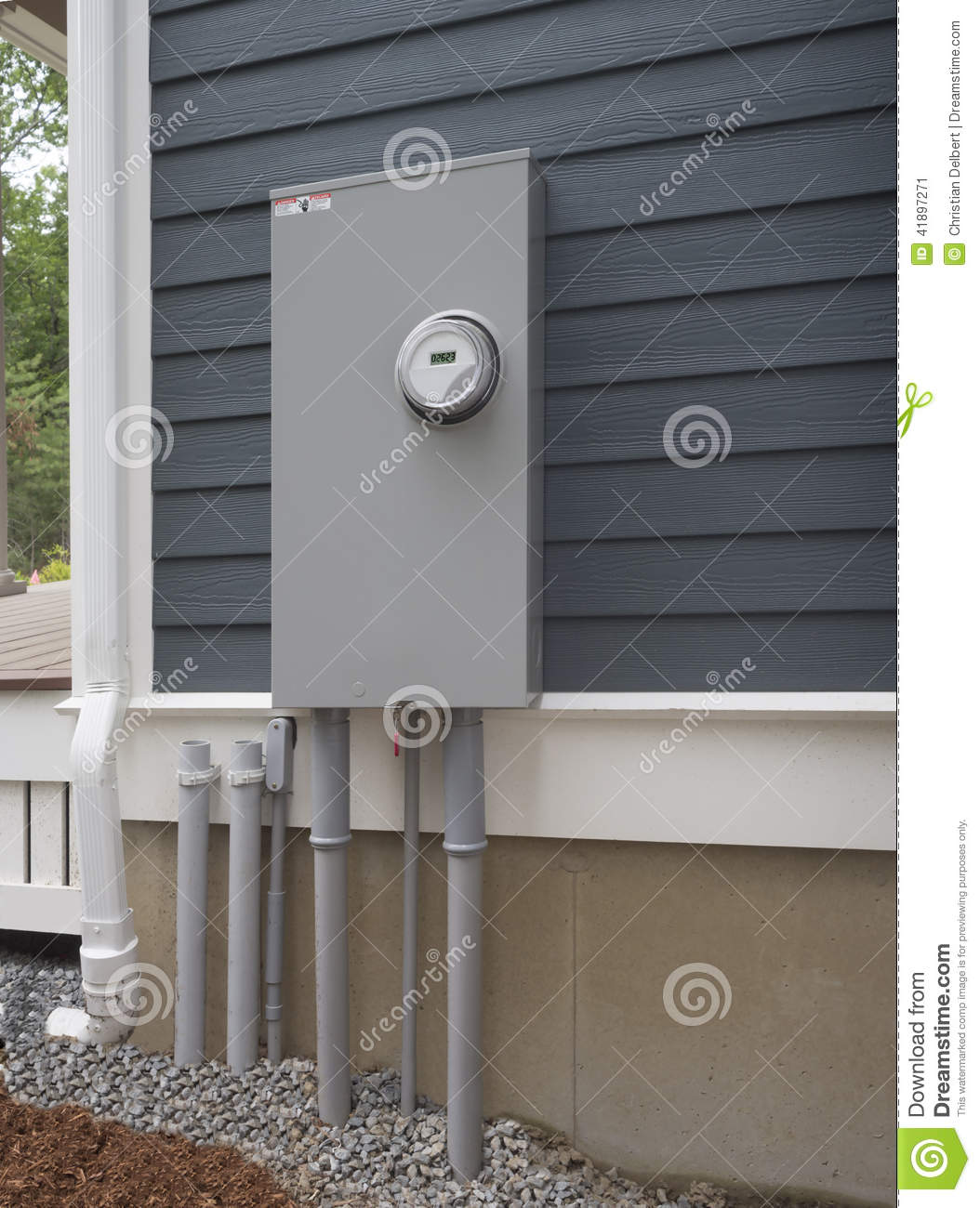 Smart Electric Utility Meter And Panel Stock Photo Image