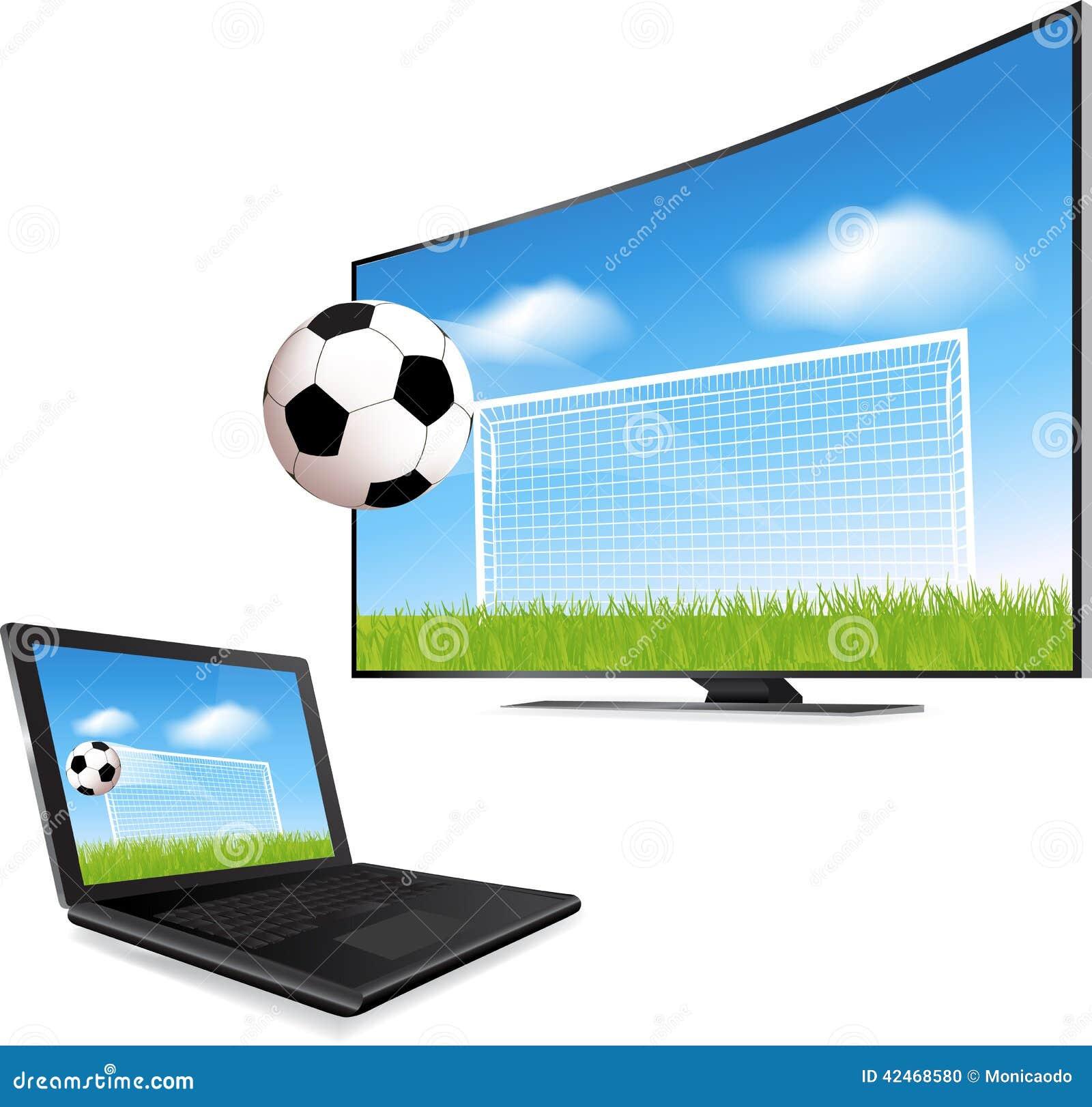 Smart-Fernsehen und Laptop