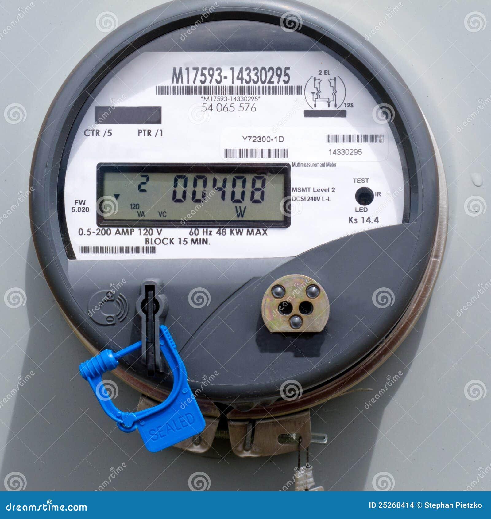 Digital Electric Power Meters : Power meter royalty free cartoon cartoondealer