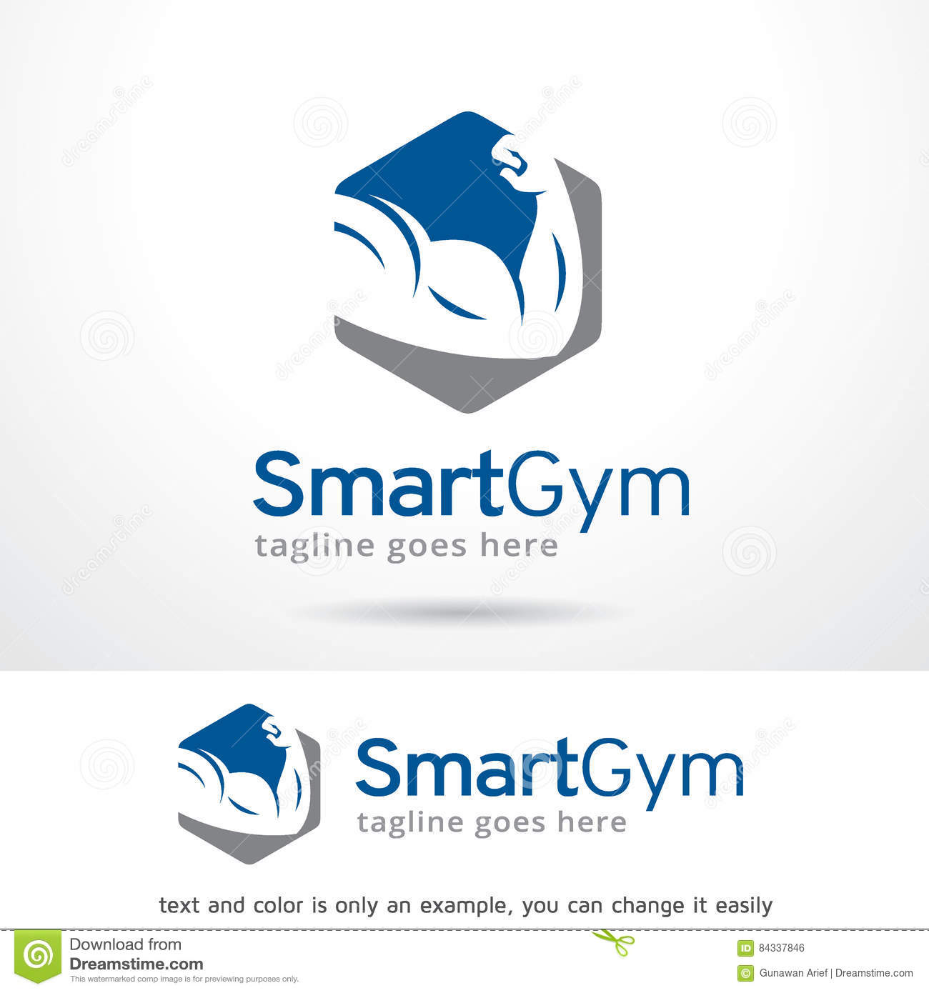 Smart Gym Logo Template Design Vector Stock Vector Illustration Of
