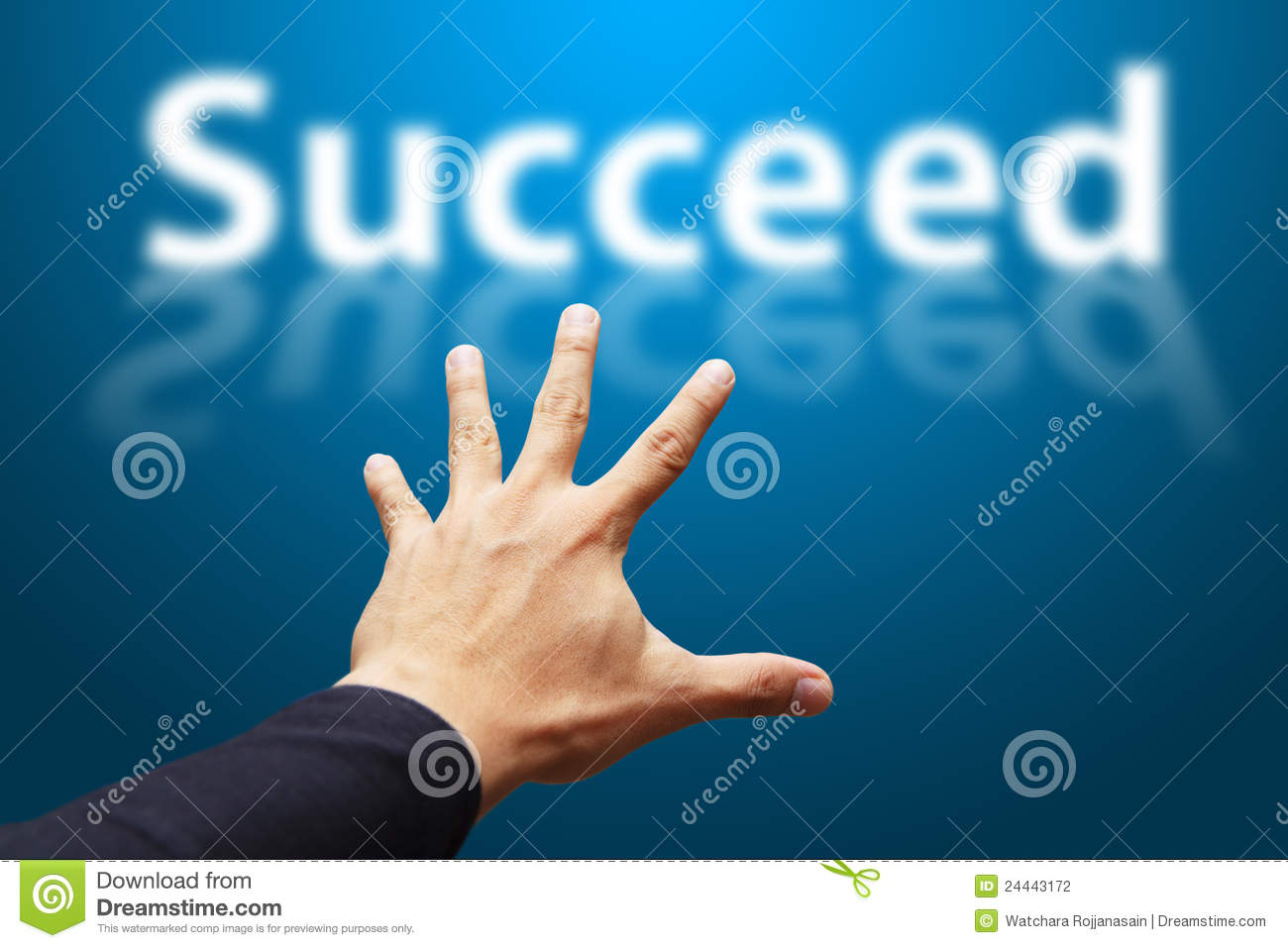 Smart Hand Grab The Word Succeed Stock Photography - Image ... The Word Succeed