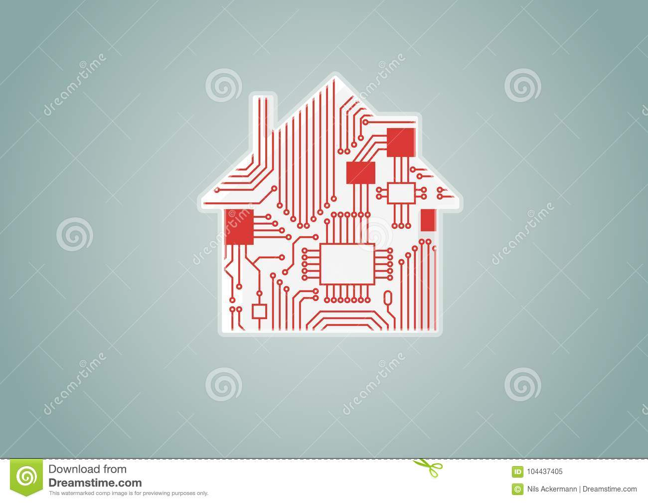 Smart Home Automation Concept As Example For Digitization ...