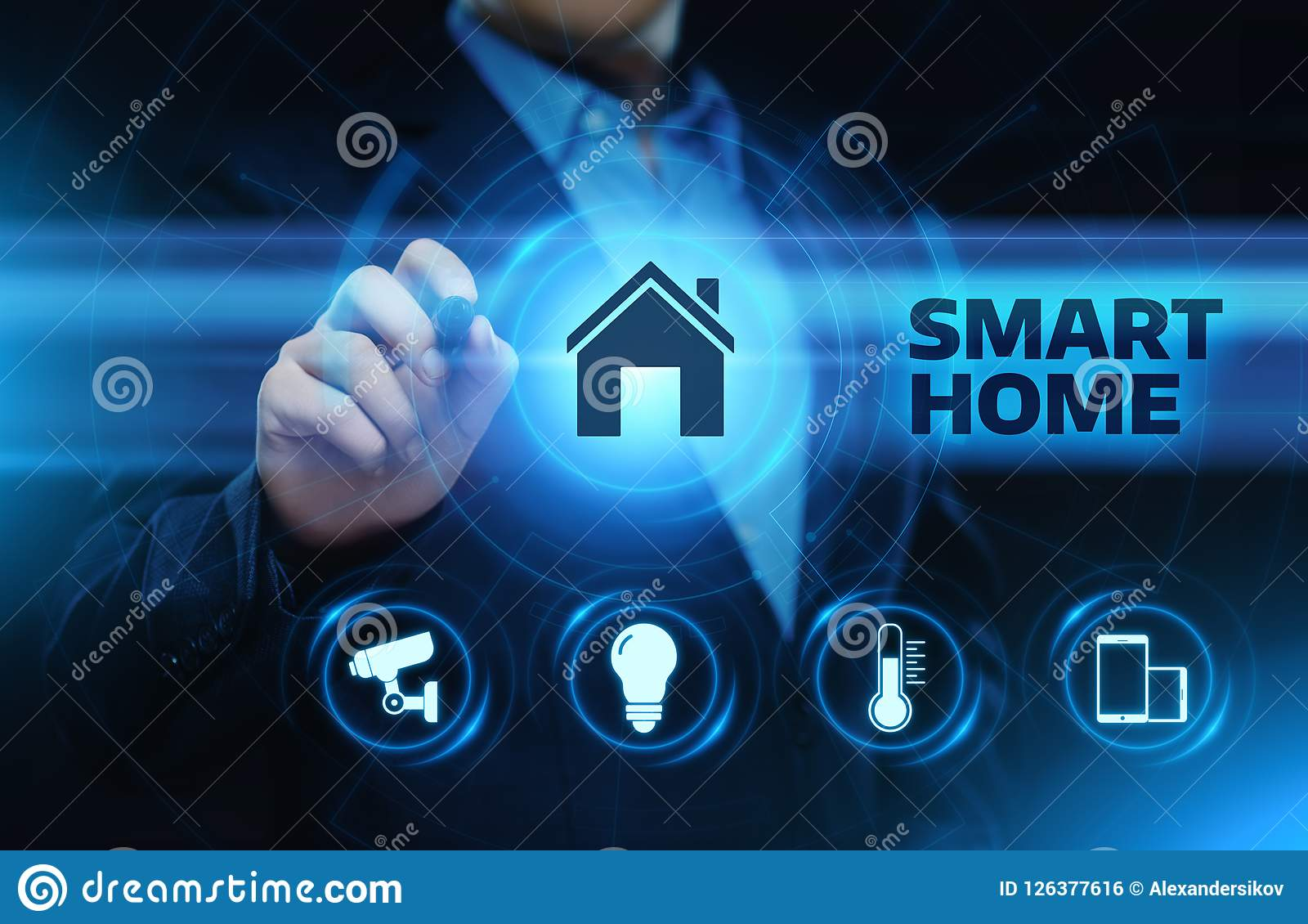 Smart home Automation Control System. Innovation technology internet Network Concept