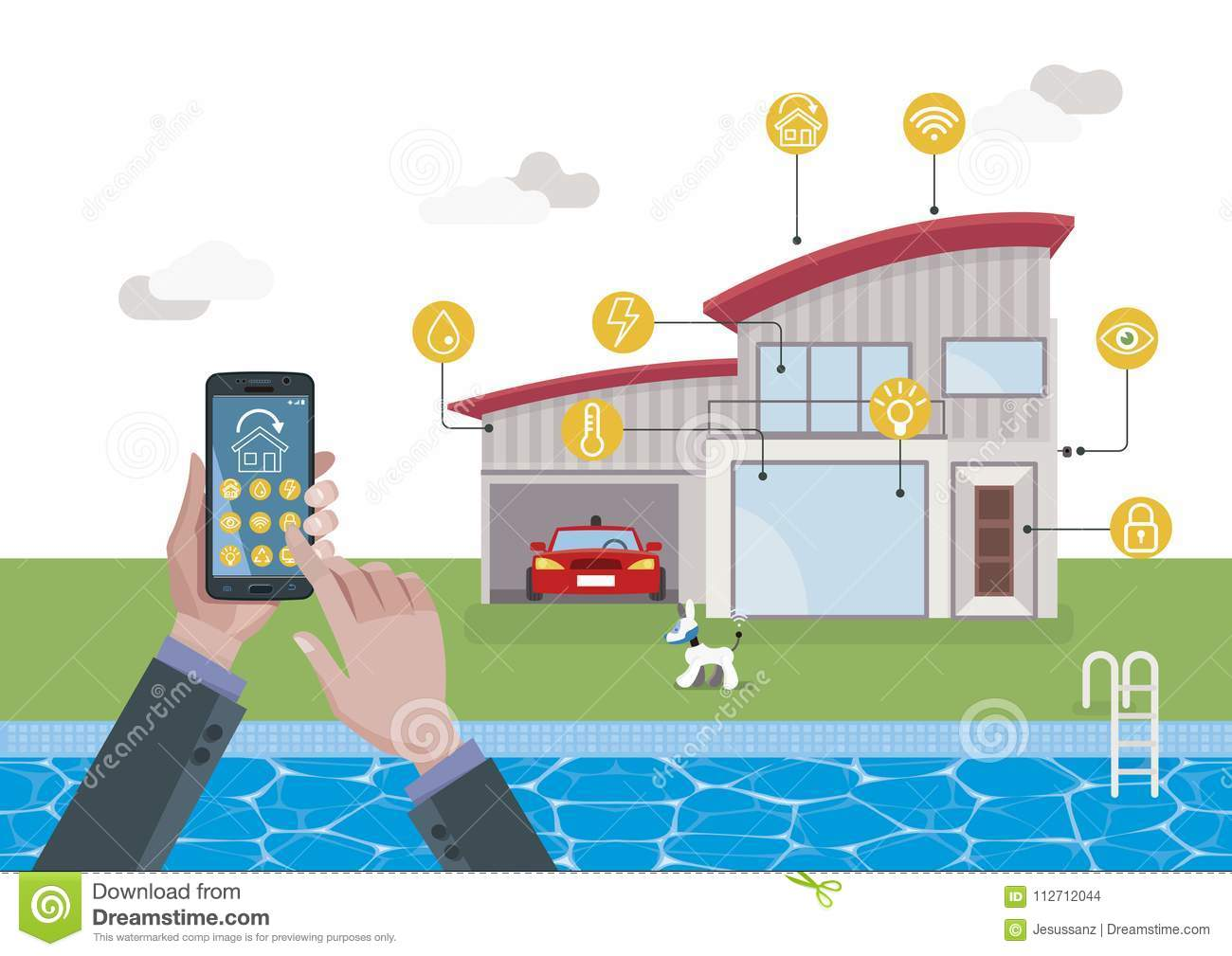 Smart Home Automation System With Mobile Phone