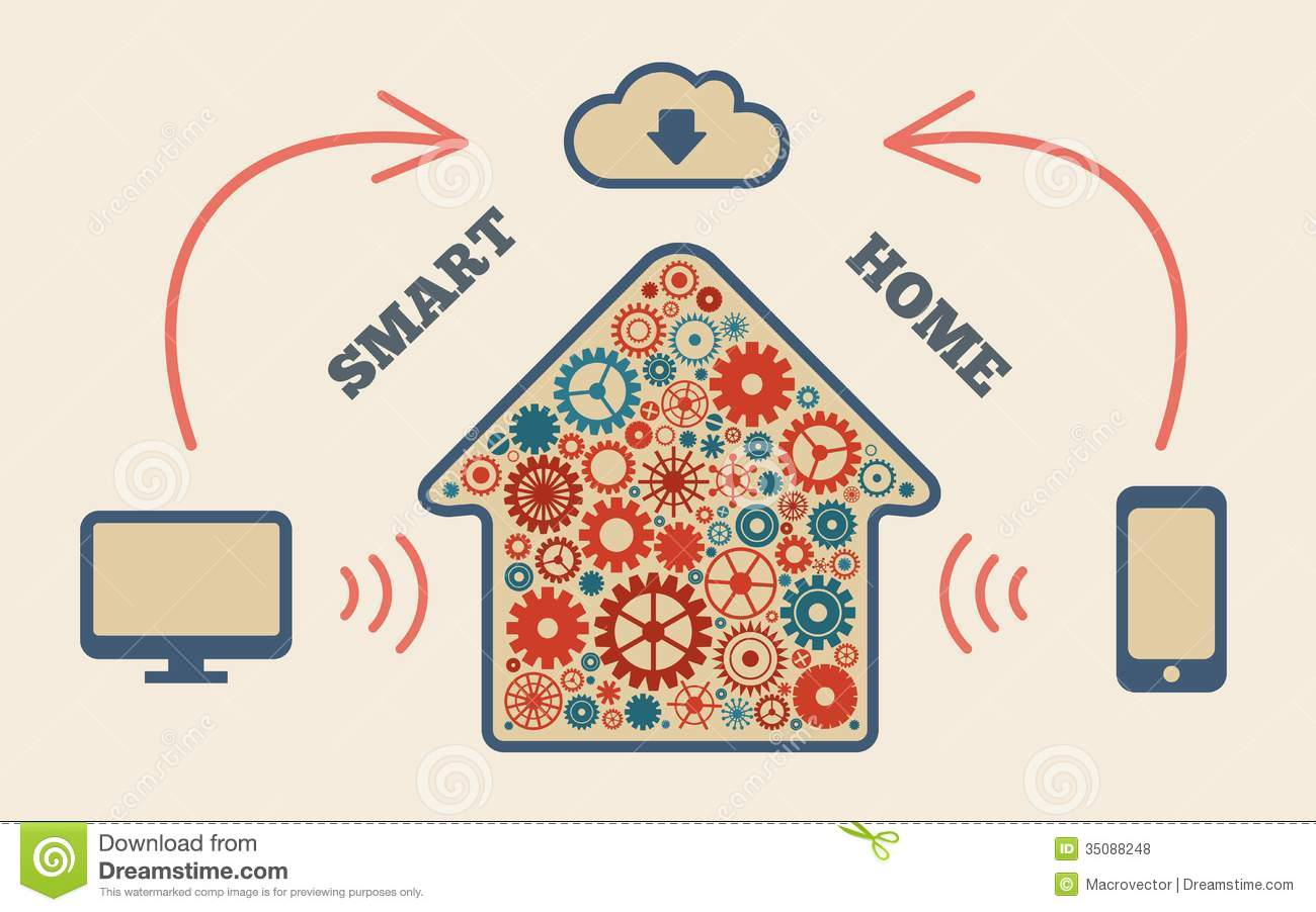 Smart Home Royalty Free Stock Photos - Image: 35088248