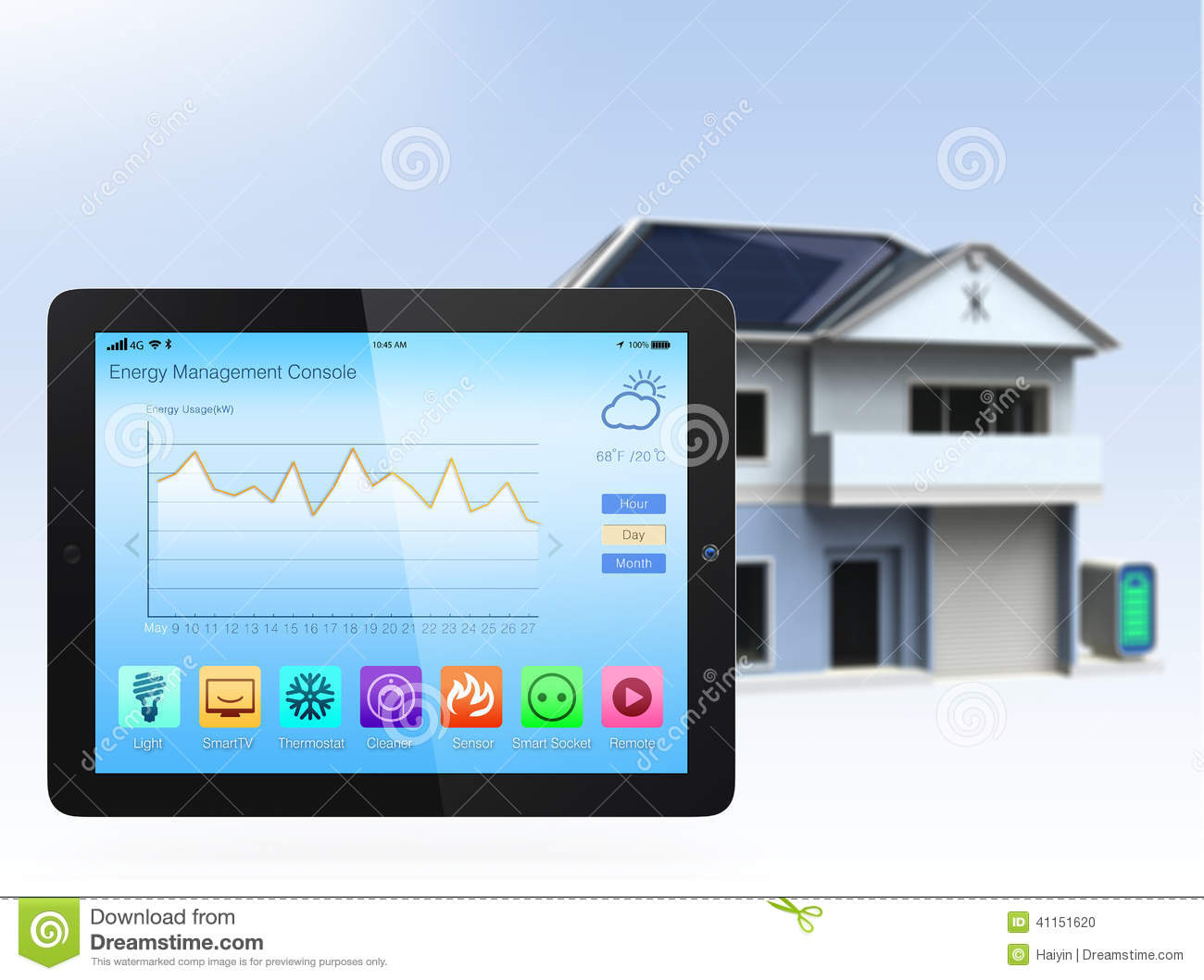 Smart Home Console Stock Photo Image Of Home Interface