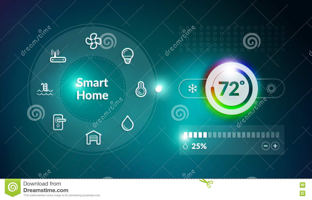 Smart Home Control Panel Stock Illustration Image Of