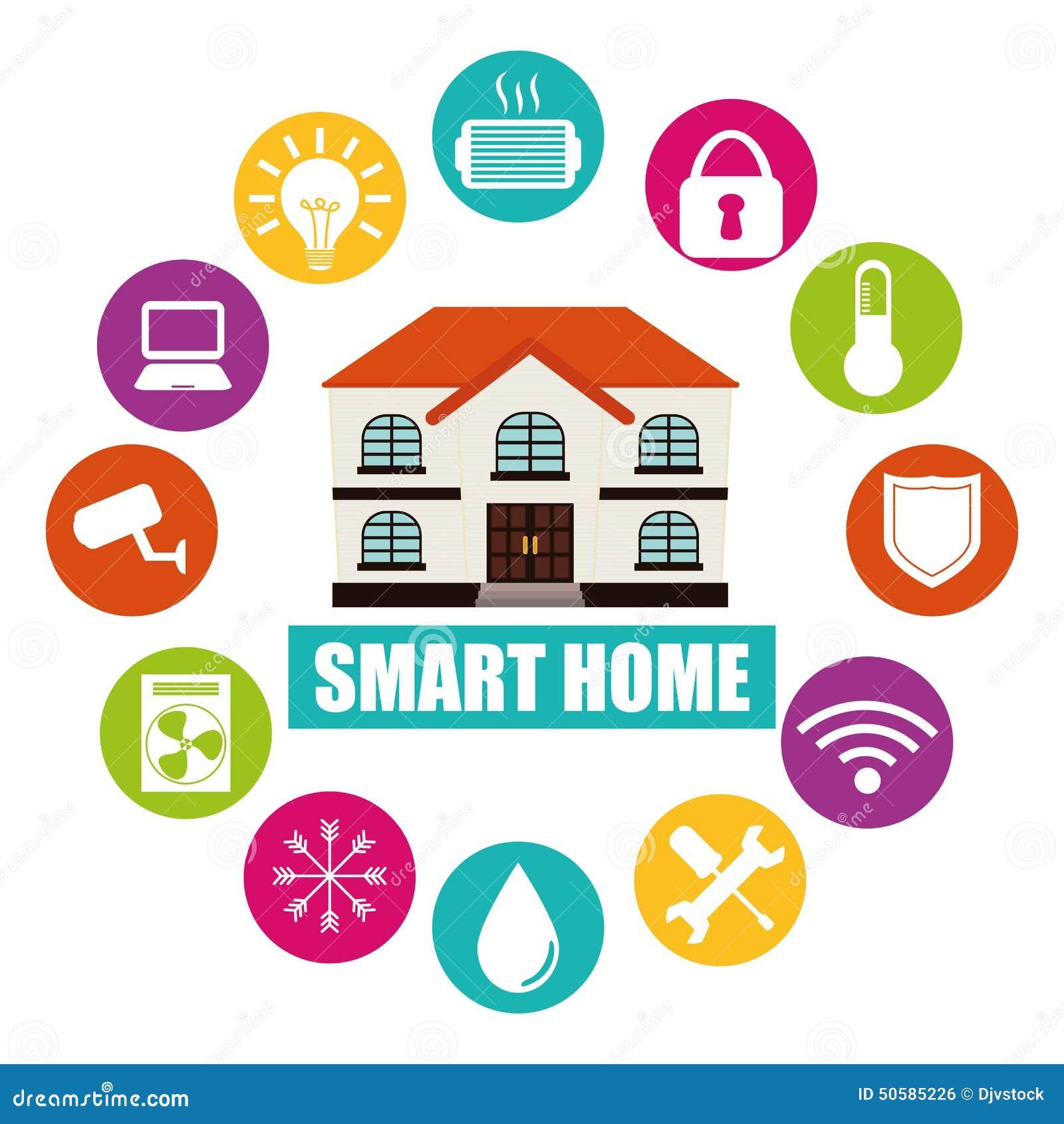 Smart Home Stock Illustration Image 50585226