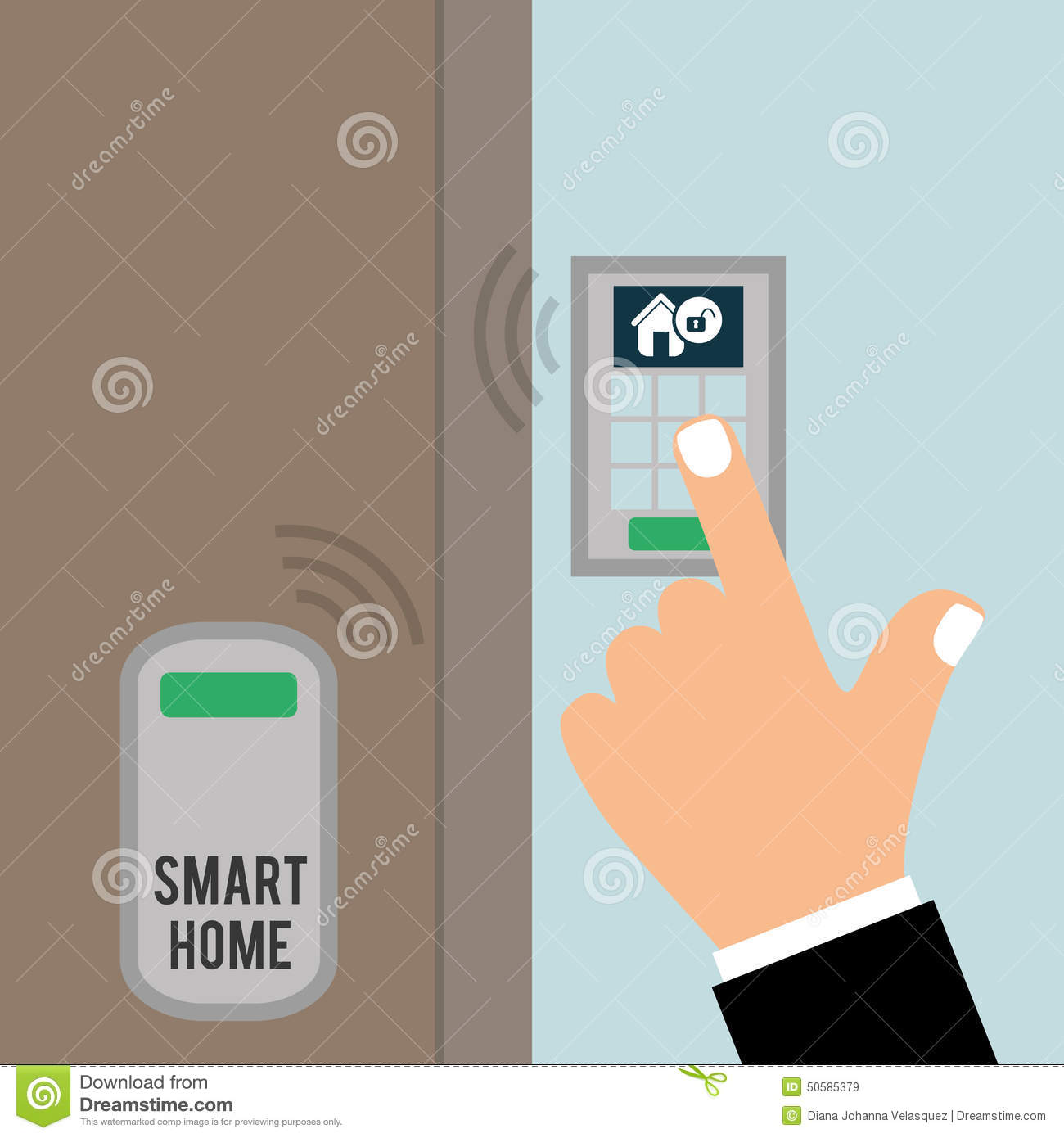 smart home stock illustration image 50585379