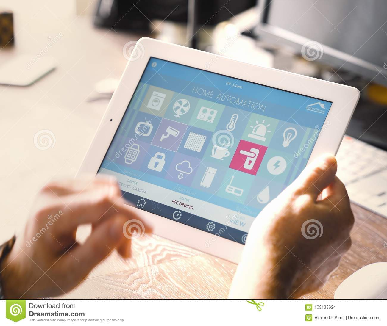 Smart Home Device - Home Control Stock Photo - Image of energy ...