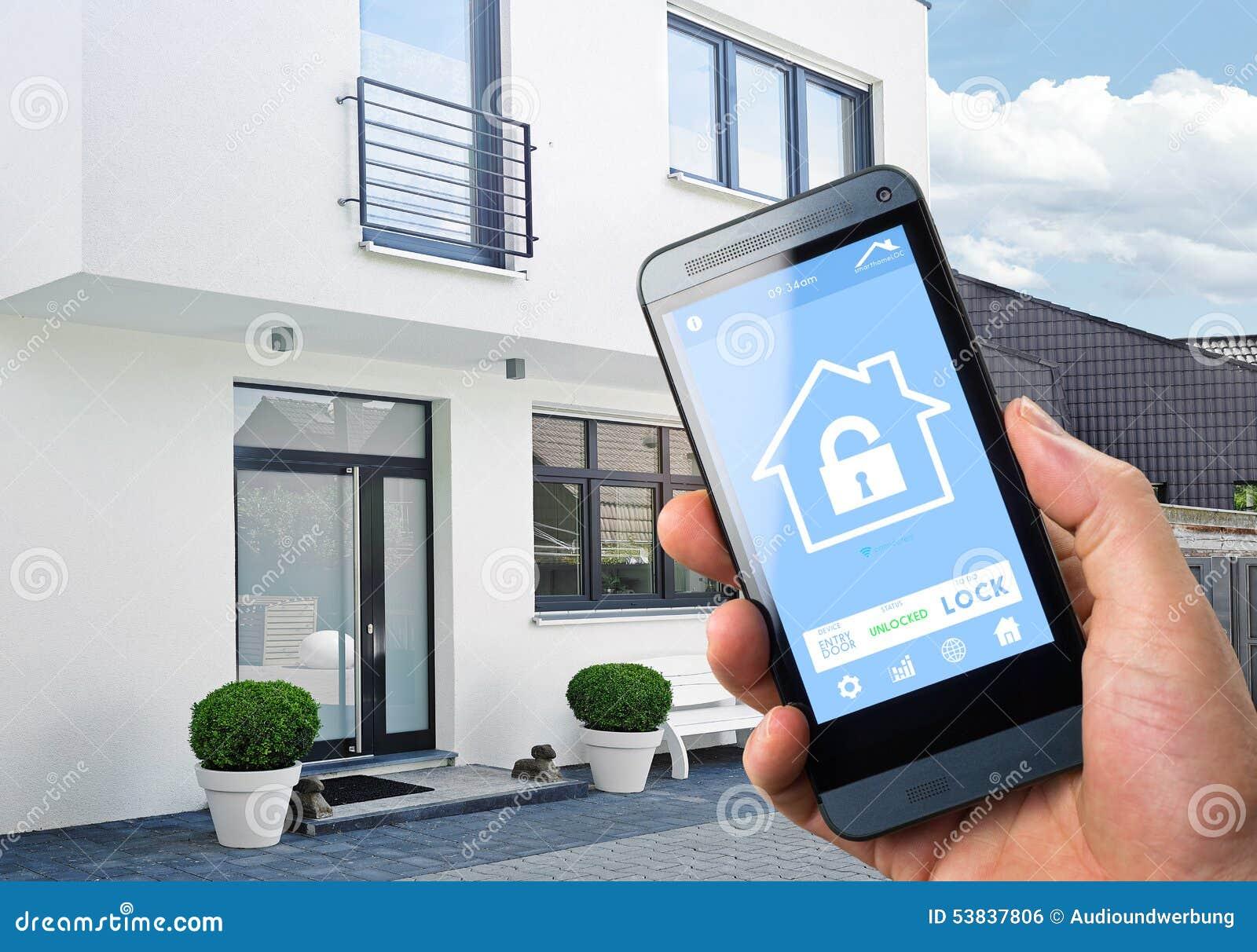 smart home device home control stock illustration image 53837806. Black Bedroom Furniture Sets. Home Design Ideas