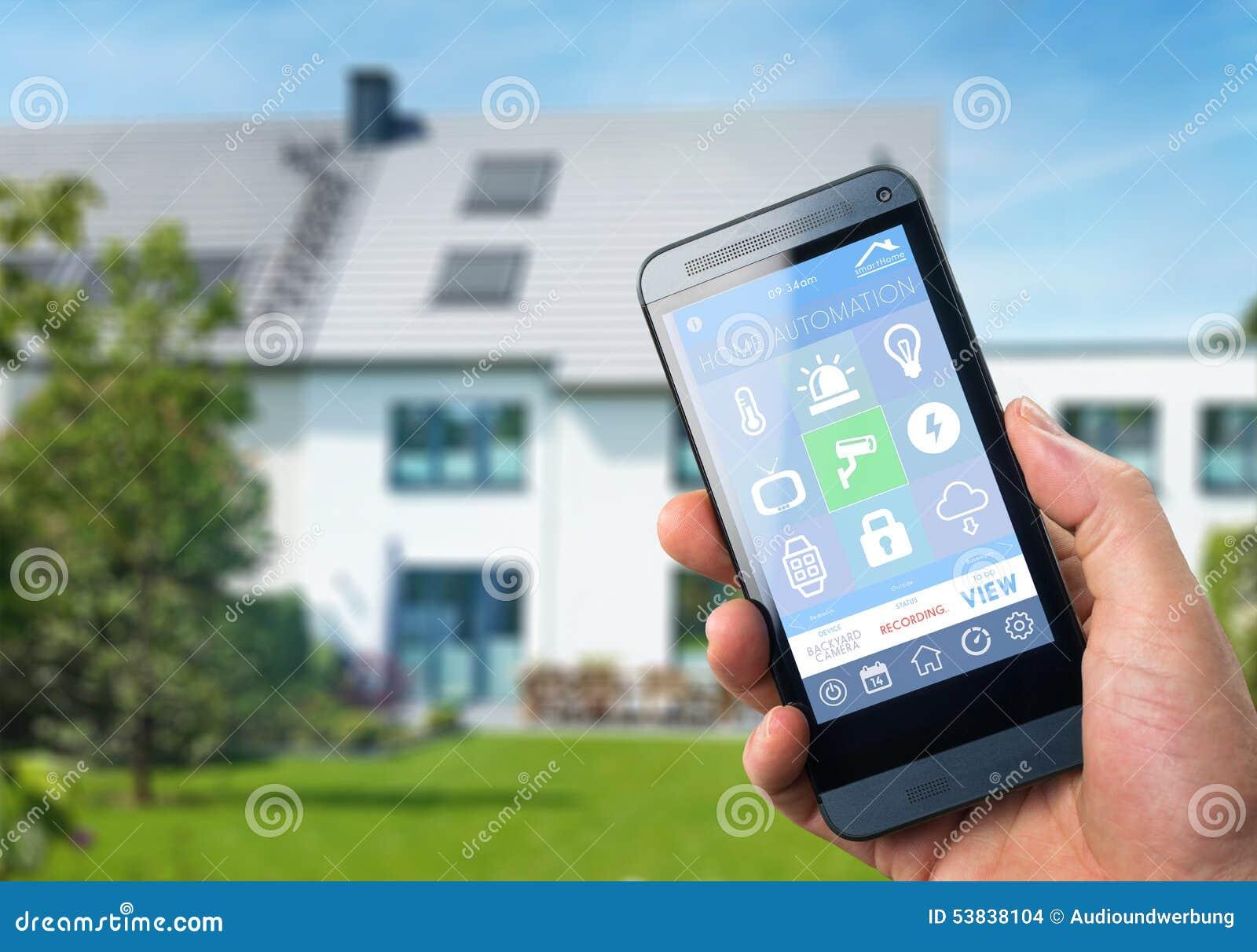 smart home device home control stock illustration image 53838104. Black Bedroom Furniture Sets. Home Design Ideas