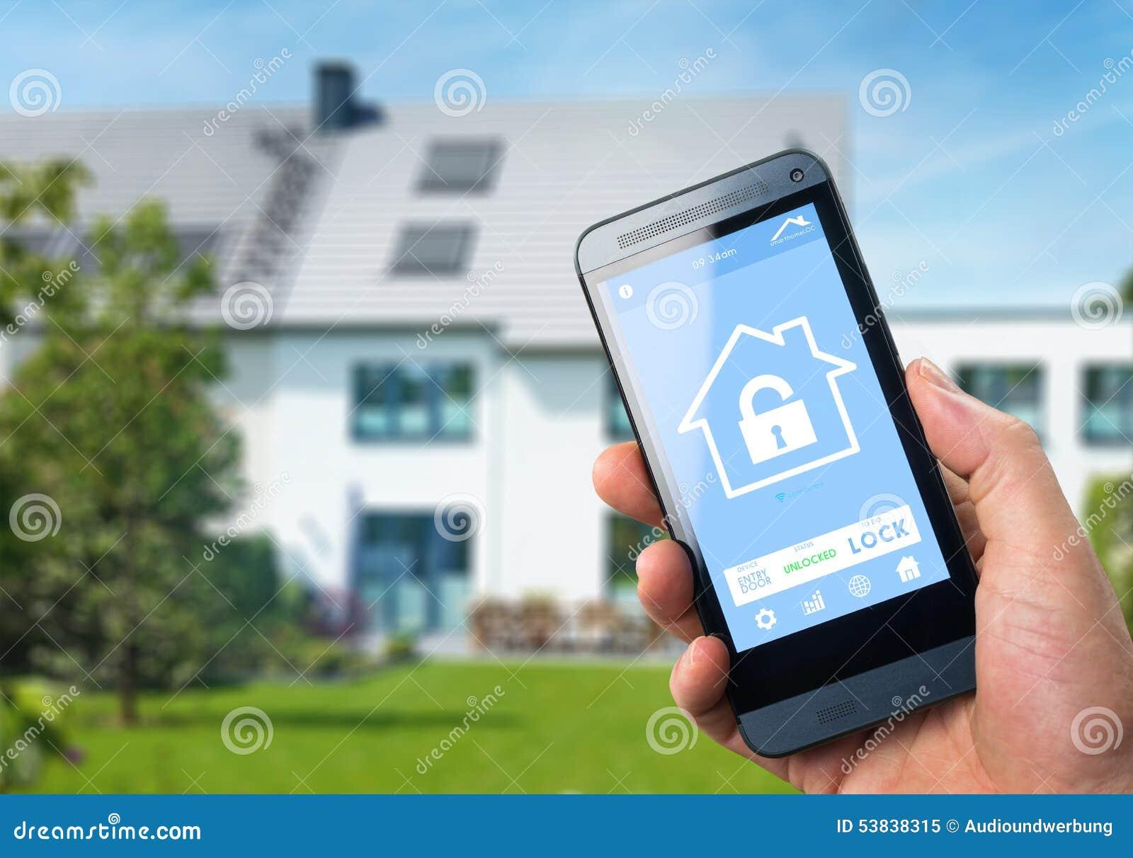 smart home device home control stock illustration image 53838315. Black Bedroom Furniture Sets. Home Design Ideas