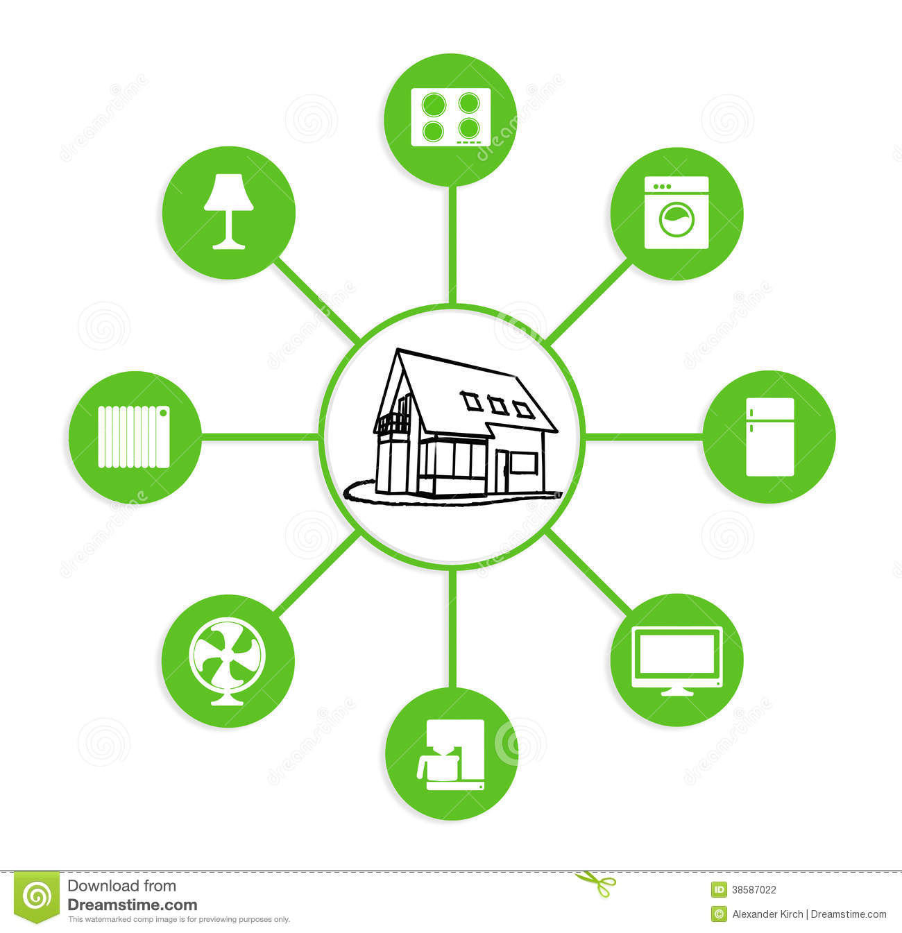 Smart Home Device Control Stock Photography Image