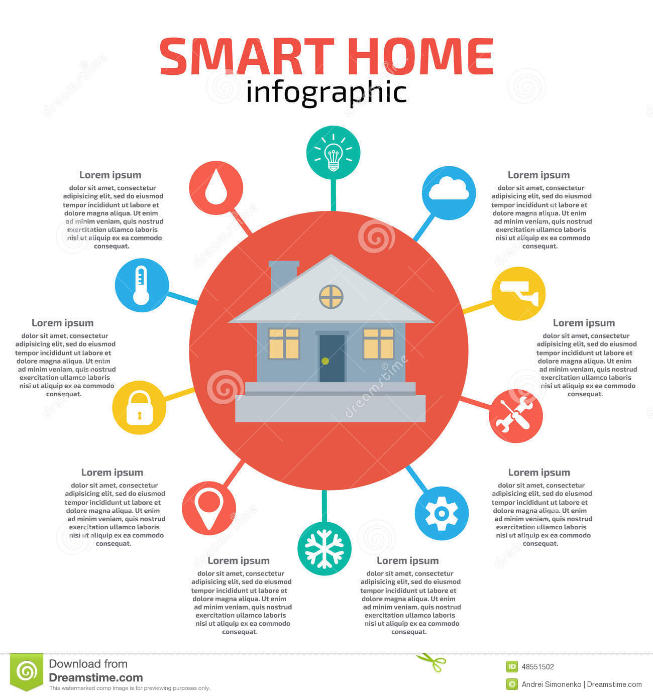 Smart Home Infographic. Vector Illustration Stock Vector ...