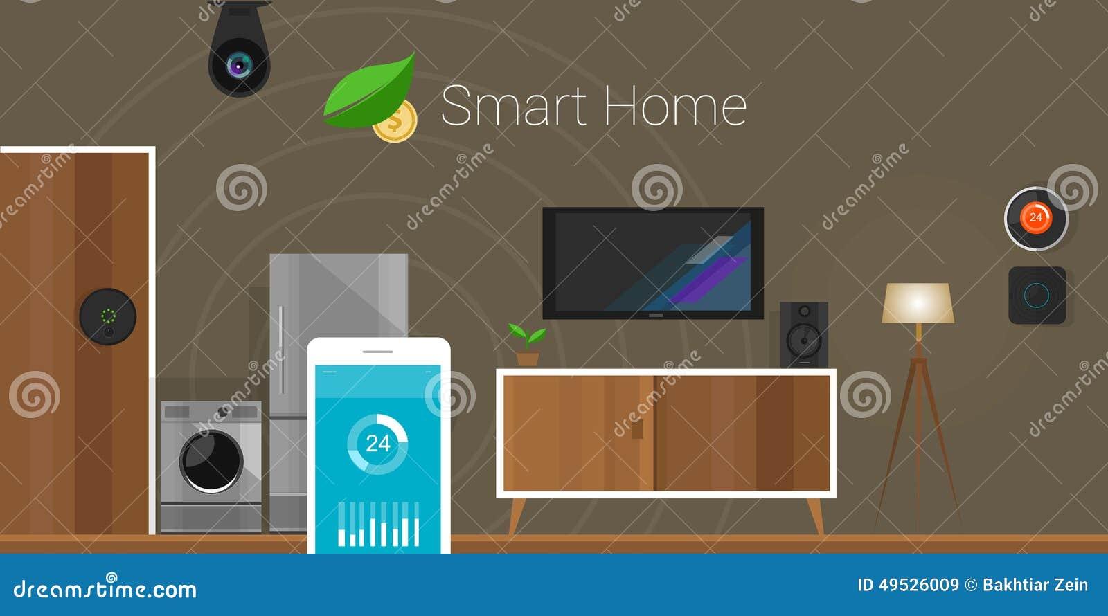 smart home internet of things stock illustration image 49526009. Black Bedroom Furniture Sets. Home Design Ideas