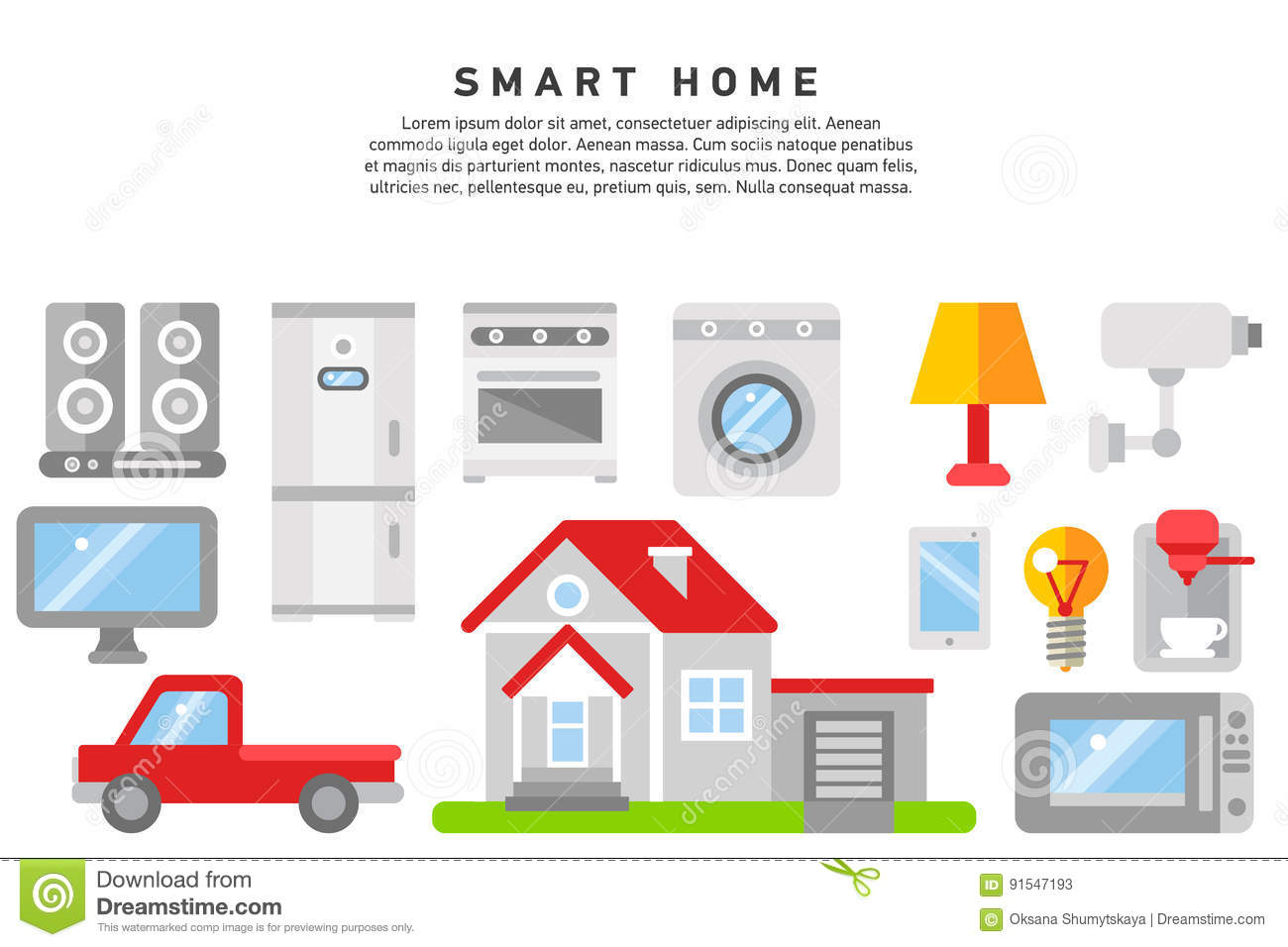 smart home iot internet of thing stock vector illustration of devices icon 91547193. Black Bedroom Furniture Sets. Home Design Ideas