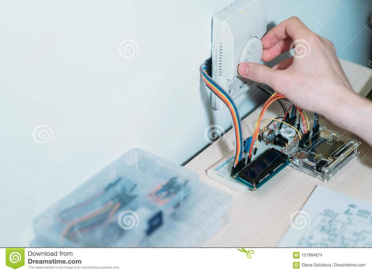 Smart Home System Installing Modern Appliances Stock Photo Image Wiring