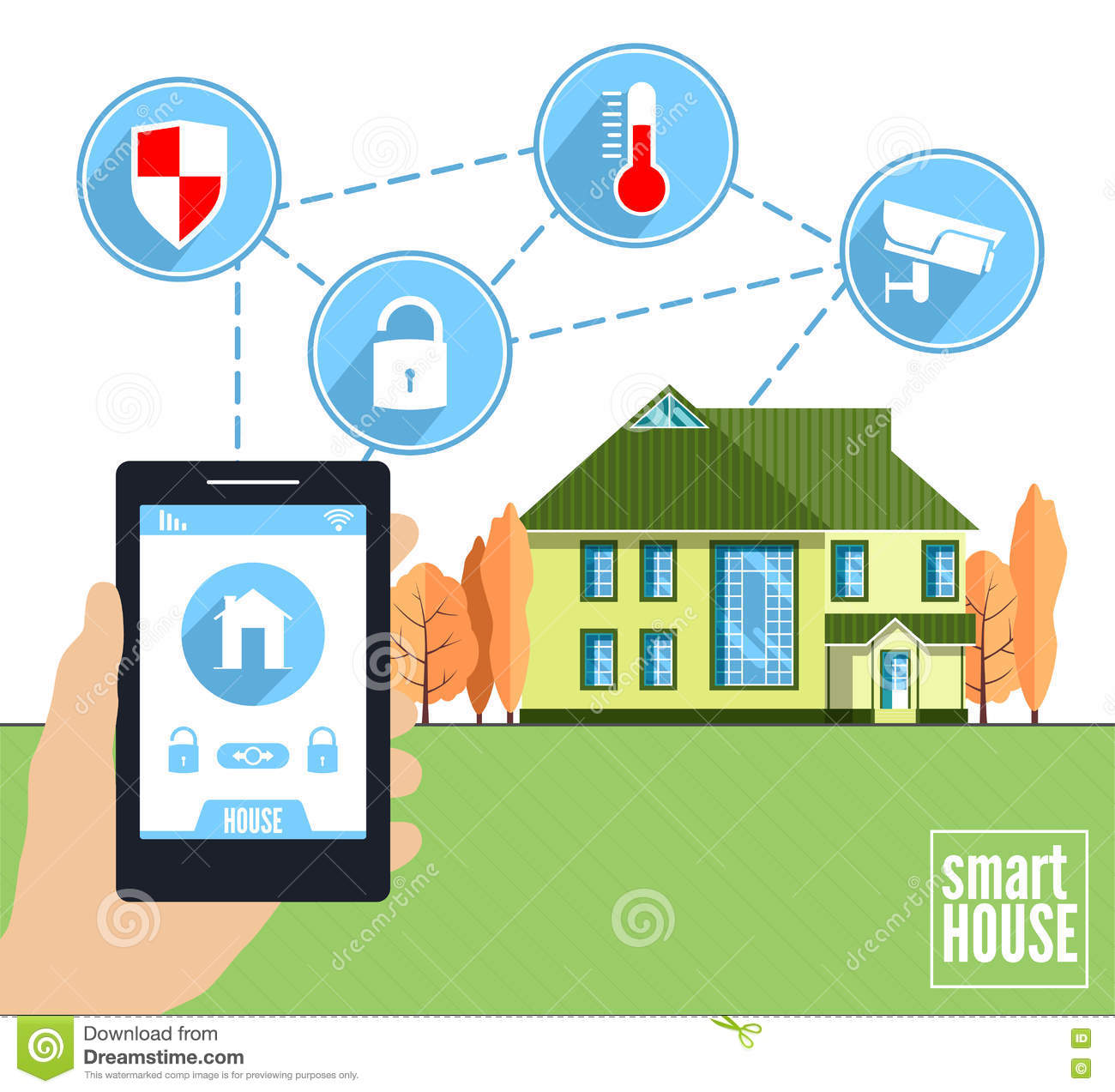 Intrnet technology stock image 21162565 for Smart home technology definition