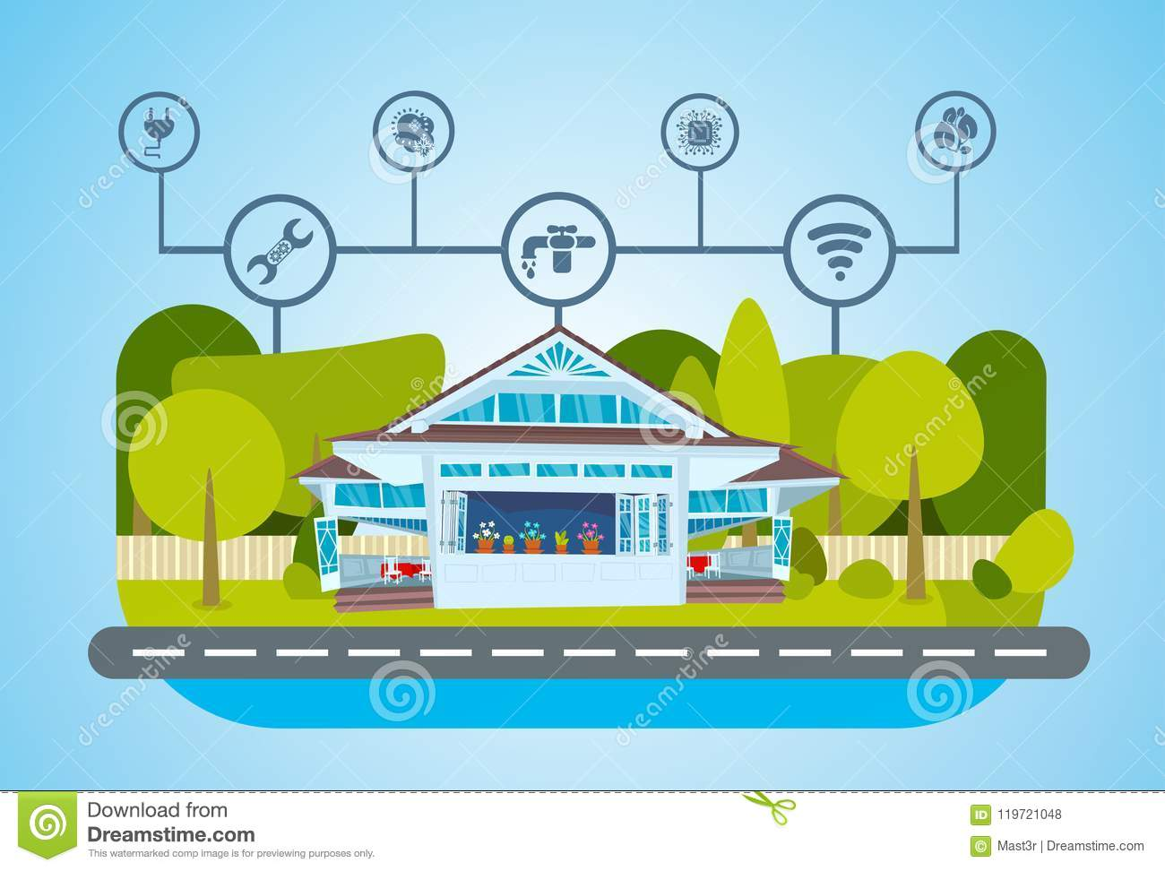 Smart House Green Energy Technology System Centralized Control Of ...