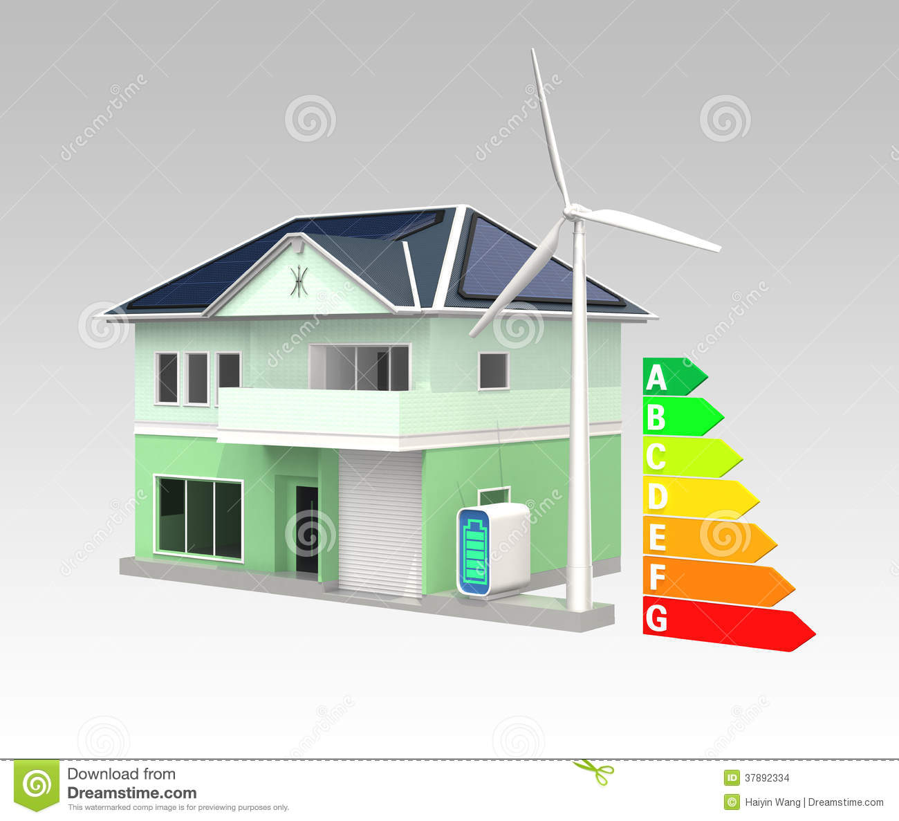 Smart house with solar panel system energy efficient chart for Efficient heating systems small houses