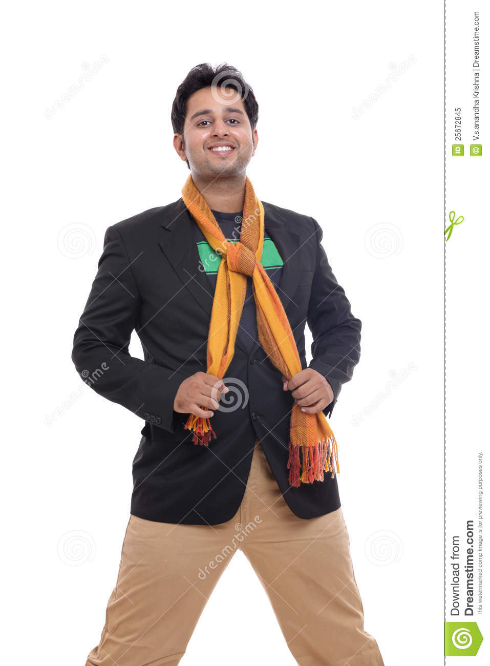 Smart Indian Young Man Smiling Royalty Free Stock Photo ...