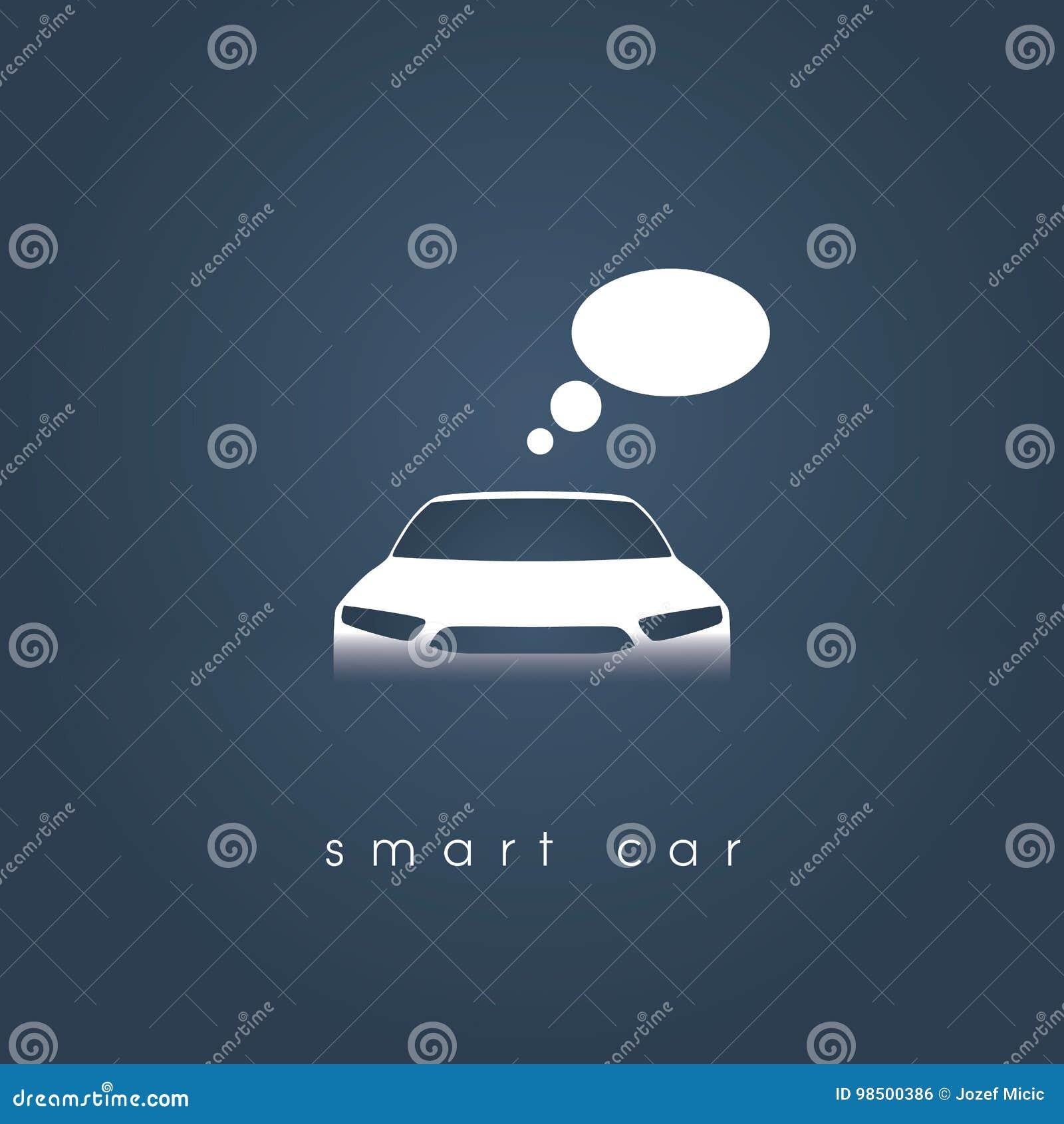 Smart Or Intelligent Car Vector Concept Futuristic Automotive