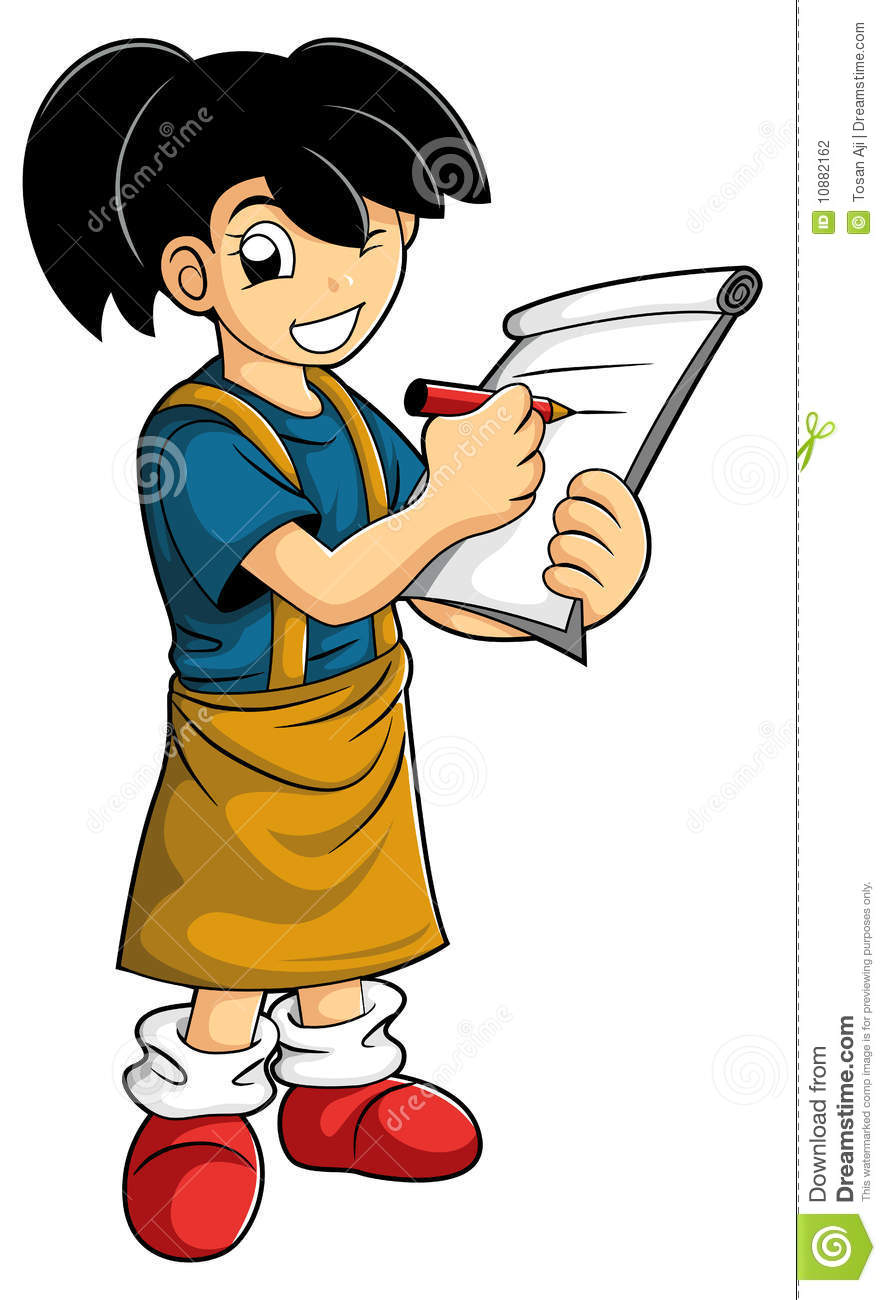 Smart Kid Make A Note Stock Photography Image 10882162