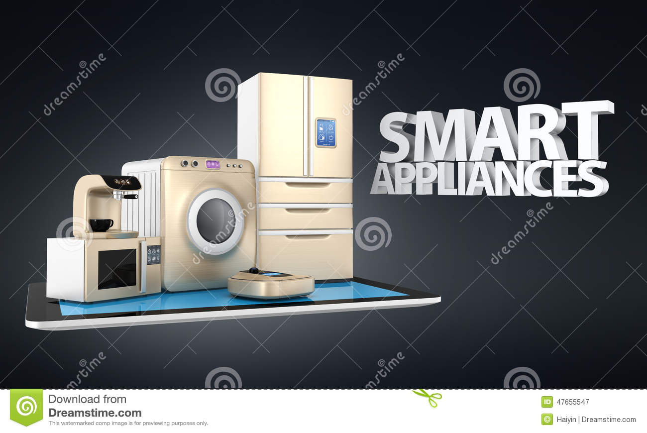 Smart Kitchen Smart Microwave Oven Icon Smart Kitchen Stock Vector Image