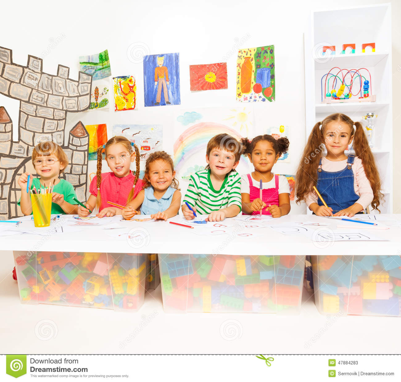 Kids Writing Stock Photos and Images