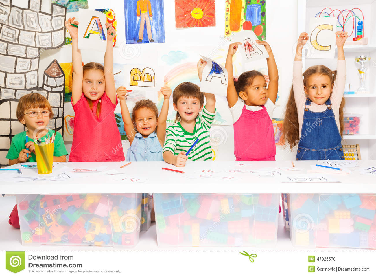 Worksheet Learning With Kids smart little kids learning letters and writing stock photo image writing